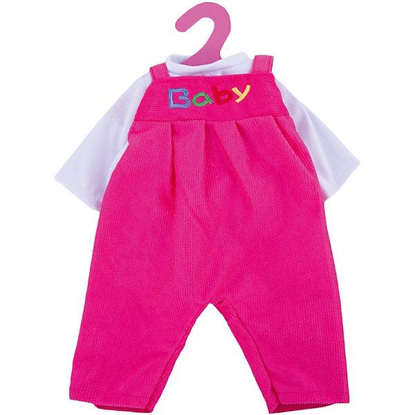 Одежда для кукол: синий комбинезон, JUNFAОдежда для кукол<br>Характеристики:<br><br>• тип игрушки: комбинезон;<br>• возраст: от 3 года;<br>• цвет: синий;<br>• размер: 25х38х1 см;<br>•комплект: комбинезон, вешалка;<br>• бренд: Junfa Toys;<br>• упаковка: пакет;<br>• материал: пластик, текстиль.<br><br>Одежда для кукол «Комбинезон синий» JUNFA позволит ребенку украсить куклу одеждой. Одежда для кукол выполнена из приятного на ощупь текстиля высокого качества, а надёжные аккуратные швы обеспечат изделию долгий срок службы.  Набор одежды состоит из комбинезона на бретельках и белой футболки. Он декорирован разноцветной надписью «Baby». <br><br>В комплекте также предусмотрена яркая вешалка, с помощью которой малышкам будет удобнее хранить наряд в шкафу. Одежду можно по необходимости стирать в щадящем режиме, не боясь, что она потеряет цвет и форму.<br><br>Одежду для кукол «Комбинезон синий» JUNFA можно купить в нашем интернет-магазине.<br><br>Ширина мм: 250<br>Глубина мм: 10<br>Высота мм: 380<br>Вес г: 68<br>Возраст от месяцев: 36<br>Возраст до месяцев: 1188<br>Пол: Женский<br>Возраст: Детский<br>SKU: 5173035