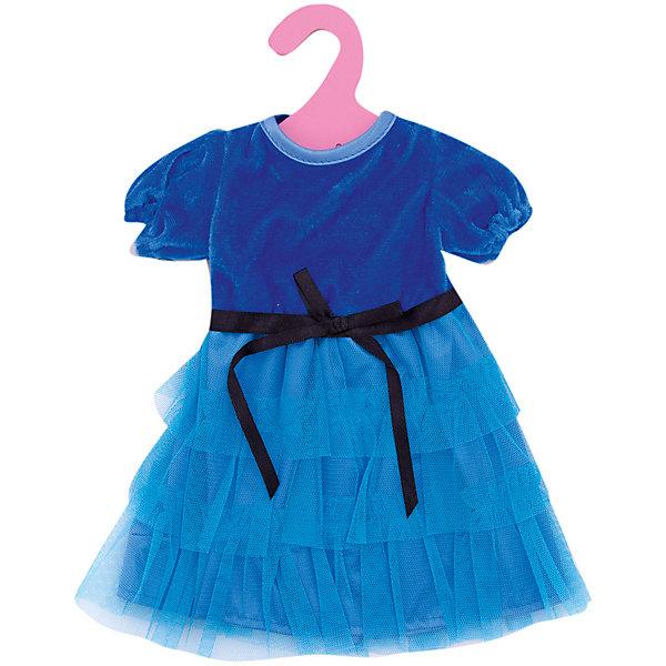 Одежда для кукол: синее платье, JUNFAОдежда для кукол<br>Характеристики:<br><br>• возраст: от 1 года;<br>• тип игрушки: одежда для кукол;<br>• размер: 25.5x36x1 см.<br>• комплект: платье, плечики;<br>• материал: текстиль;<br>• бренд: Junfa Toys;<br>• упаковка: пакет;<br>• страна производитель: Китай.<br><br>Одежда для кукол: синее платье JUNFA – это нарядное платье, сделанное из качественных материалов, которое отлично подходит для  куколки среднего размера. Оно  сшито из атласной ткани синего цвета. Куколка будет выглядеть в нём очень нарядно и привлекательно. <br> <br>Синее платье для куклы с поясом имеет высокий лиф из блестящей атласной ткани, короткие рукава-фонарики и многоярусную пышную юбка с воланами. Нарядное платье поможет стать кукле еще более прекрасной и стильной. Оно станет достойным пополнением в ее гардеробе. <br><br>Одежду для кукол: синее латье JUNFA можно купить в нашем интернет-магазине.<br>Ширина мм: 255; Глубина мм: 360; Высота мм: 10; Вес г: 73; Возраст от месяцев: 36; Возраст до месяцев: 1188; Пол: Женский; Возраст: Детский; SKU: 5173036;