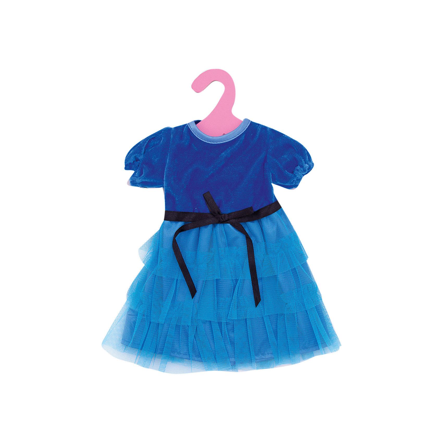 Одежда для кукол: синее платье, JUNFAКукольная одежда и аксессуары<br><br><br>Ширина мм: 255<br>Глубина мм: 360<br>Высота мм: 10<br>Вес г: 73<br>Возраст от месяцев: 36<br>Возраст до месяцев: 1188<br>Пол: Женский<br>Возраст: Детский<br>SKU: 5173036