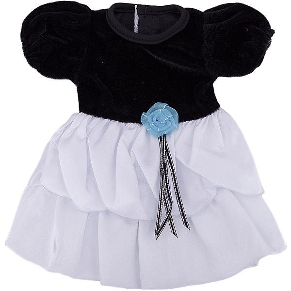 Одежда для кукол: черно-белое платье, JUNFAОдежда для кукол<br>Характеристики:<br><br>• тип игрушки: одежда для кукол;<br>• возраст: от 1 года;<br>• цвет: черно-белый;<br>• размер: 36х26 см;<br>•комплект: платье, вешалка;<br>• бренд: Junfa Toys;<br>• упаковка: пакет;<br>• материал: пластик, текстиль.<br><br>Одежда для кукол «Черно-белое платье» JUNFA позволит ребенку украсить куклу одеждой. Одежда для кукол выполнена из приятного на ощупь текстиля высокого качества, а надёжные аккуратные швы обеспечат изделию долгий срок службы. А декоративный голубой цветочек на поясе сделает внешний вид куклы еще более модным и стильным.<br><br>В комплекте также предусмотрена яркая вешалка, с помощью которой малышкам будет удобнее хранить наряд в шкафу. Одежду можно по необходимости стирать в щадящем режиме, не боясь, что она потеряет цвет и форму.<br><br>Одежду для кукол «Черно-белое платье» JUNFA можно купить в нашем интернет-магазине.<br><br>Ширина мм: 255<br>Глубина мм: 360<br>Высота мм: 10<br>Вес г: 77<br>Возраст от месяцев: 36<br>Возраст до месяцев: 1188<br>Пол: Женский<br>Возраст: Детский<br>SKU: 5173038