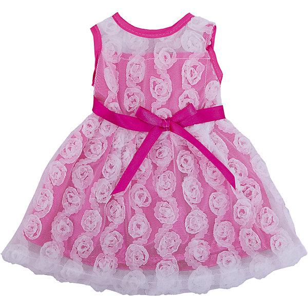 Одежда для кукол: розовое платье с гипюром, JUNFAОдежда для кукол<br>Характеристики:<br><br>• тип игрушки: одежда для кукол;<br>• возраст: от 1 года;<br>• цвет: розовый;<br>• размер: 36х26 см;<br>•комплект: платье, вешалка;<br>• бренд: Junfa Toys;<br>• упаковка: пакет;<br>• материал: пластик, текстиль.<br><br>Одежда для кукол «Розовое платье с гипюром» JUNFA позволит ребенку украсить куклу одеждой. Одежда для кукол выполнена из приятного на ощупь текстиля высокого качества, а надёжные аккуратные швы обеспечат изделию долгий срок службы.  А декоративный бантик на поясе и узоры в виде цветочков сделают внешний вид куклы еще более модным и стильным.<br><br>В комплекте также предусмотрена яркая вешалка, с помощью которой малышкам будет удобнее хранить наряд в шкафу. Одежду можно по необходимости стирать в щадящем режиме, не боясь, что она потеряет цвет и форму.<br><br>Одежду для кукол «Розовое платье с гипюром» JUNFA можно купить в нашем интернет-магазине.<br><br>Ширина мм: 255<br>Глубина мм: 10<br>Высота мм: 360<br>Вес г: 76<br>Возраст от месяцев: 36<br>Возраст до месяцев: 1188<br>Пол: Женский<br>Возраст: Детский<br>SKU: 5173039