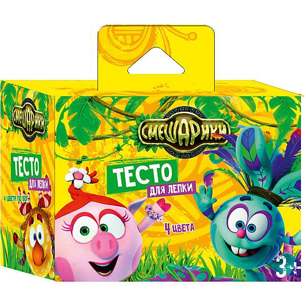 Набор теста для лепки  Смешарики, 4 цвета по 80 гСмешарики<br>Набор теста для лепки Смешарики, 4 цвета по 80 г, Centrum (Центрум)<br><br>Характеристики:<br><br>• безвредно для ребенка<br>• несколько цветов в комплекте<br>• в наборе: 4 цвета по 80 грамм<br>• размер упаковки: 7,5х10,7х14,3<br><br>Тесто Смешарики станет приятным подарком любителю лепки. В набор входит 4 цвета теста. Тесто хорошо мнется и не прилипает рукам. Ребенок сможет создать красивые фигурки, задействую свою фантазию. Творчество развивает мелкую моторику, фантазию и усидчивость. Подарите ребенку возможность проявить своими творческие способности вместе с любимыми героями!<br><br>Набор теста для лепки Смешарики, 4 цвета по 80 г, Centrum (Центрум) вы можете купить в нашем интернет-магазине.<br><br>Ширина мм: 75<br>Глубина мм: 143<br>Высота мм: 107<br>Вес г: 380<br>Возраст от месяцев: 36<br>Возраст до месяцев: 120<br>Пол: Унисекс<br>Возраст: Детский<br>SKU: 5175358