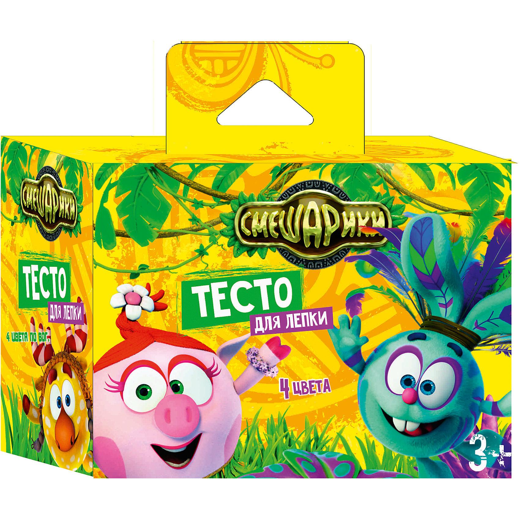 Набор теста для лепки  Смешарики, 4 цвета по 80 гНабор теста для лепки Смешарики, 4 цвета по 80 г, Centrum (Центрум)<br><br>Характеристики:<br><br>• безвредно для ребенка<br>• несколько цветов в комплекте<br>• в наборе: 4 цвета по 80 грамм<br>• размер упаковки: 7,5х10,7х14,3<br><br>Тесто Смешарики станет приятным подарком любителю лепки. В набор входит 4 цвета теста. Тесто хорошо мнется и не прилипает рукам. Ребенок сможет создать красивые фигурки, задействую свою фантазию. Творчество развивает мелкую моторику, фантазию и усидчивость. Подарите ребенку возможность проявить своими творческие способности вместе с любимыми героями!<br><br>Набор теста для лепки Смешарики, 4 цвета по 80 г, Centrum (Центрум) вы можете купить в нашем интернет-магазине.<br><br>Ширина мм: 75<br>Глубина мм: 143<br>Высота мм: 107<br>Вес г: 380<br>Возраст от месяцев: 36<br>Возраст до месяцев: 120<br>Пол: Унисекс<br>Возраст: Детский<br>SKU: 5175358