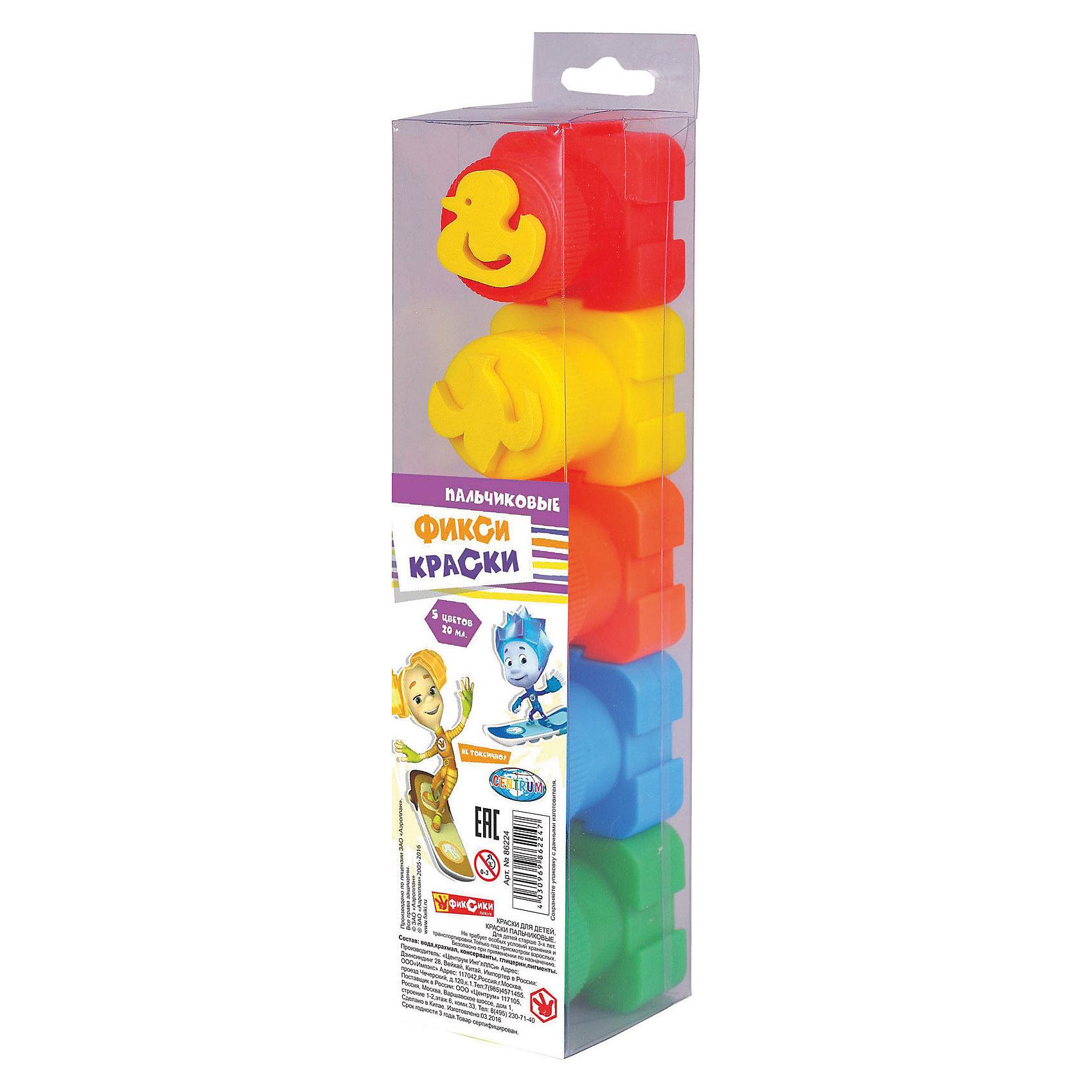 Пальчиковые краски Фиксики со штампами, 5 цветов *20 млПопулярные игрушки<br>Пальчиковые краски Фиксики со штампами, 5 цветов *20 мл, Centrum (Центрум)<br><br>Характеристики:<br><br>• яркие цвета<br>• безопасны для ребенка<br>• есть штампы<br>• в комплекте: краска 5 цветов (красный, оранжевый, желтый, зеленый, синий) по 20 мл<br>• размер упаковки: 24х4,5х5 см<br>• материал: полимер, краситель пластик<br><br>Рисование руками - очень интересное занятие, доступное даже малышам. Пальчиковые краски Фиксики понравятся каждому ребенку. В комплект входят не только 5 различных красок, но и штампы, с помощью которых ребенок сможет создать четкие красочные оттиски. Рисование красками развивает мелкую моторику, художественный вкус и усидчивость. Прекрасный подарок для маленьких художников!<br><br>Пальчиковые краски Фиксики со штампами, 5 цветов *20 мл, Centrum (Центрум) вы можете купить в нашем интернет-магазине.<br><br>Ширина мм: 50<br>Глубина мм: 40<br>Высота мм: 220<br>Вес г: 174<br>Возраст от месяцев: 36<br>Возраст до месяцев: 120<br>Пол: Унисекс<br>Возраст: Детский<br>SKU: 5175362