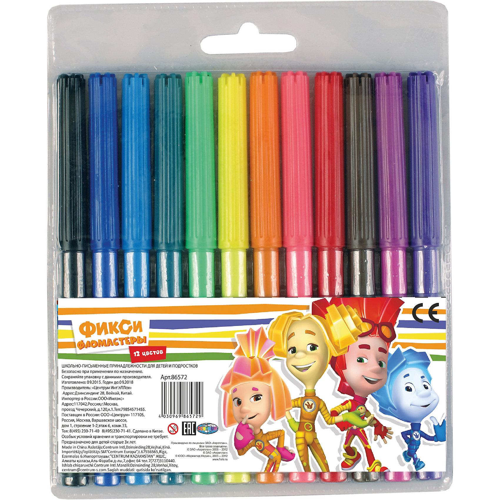 Фломастеры Фиксики 12 цветовРисование<br>Фломастеры Фиксики 12 цветов, Centrum (Центрум)<br><br>Характеристики:<br><br>• яркие цвета<br>• вентилируемый колпачок<br>• в комплекте: фломастеры 12 цветов<br>• размер упаковки: 16х13,5 см<br><br>Яркие фломастеры, несомненно, необходимы каждому маленькому художнику. Набор Фиксики состоит из 12-и фломастеров. Каждый имеет яркий цвет, прочный закругленный стержень и вентилируемый колпачок, который позволит избежать высыхания. Упаковка украшена изображением героев мультфильма Фиксики, которые вдохновят ребенка на создание новых шедевров.<br><br>Фломастеры Фиксики 12 цветов, Centrum (Центрум) вы можете купить в нашем интернет-магазине.<br><br>Ширина мм: 10<br>Глубина мм: 125<br>Высота мм: 155<br>Вес г: 65<br>Возраст от месяцев: 36<br>Возраст до месяцев: 120<br>Пол: Унисекс<br>Возраст: Детский<br>SKU: 5175365