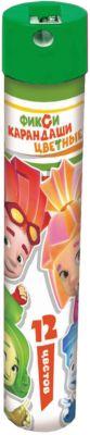 CENTRUM Цветные карандаши Фиксики 12 цветов, в металическом тубусе с точилкой