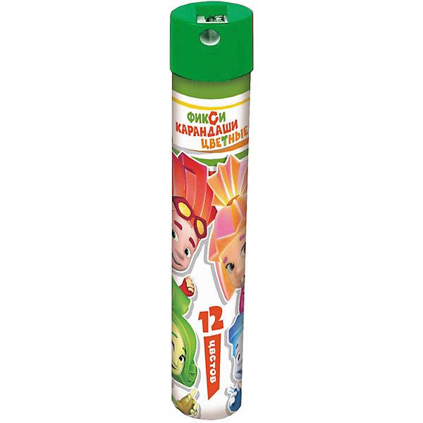 Цветные карандаши Фиксики 12 цветов, в металическом тубусе с точилкойФиксики<br>Цветные карандаши Фиксики 12 цветов, в металлическом тубусе с точилкой, Centrum (Центрум)<br><br>Характеристики:<br><br>• 12 карандашей ярких цветов<br>• точилка в комплекте<br>• длина: 17,7 см<br><br>Цветные карандаши Фиксики очень прочные и удобные. Упаковка тщательно продумана: она имеет форму тубуса с крышкой-точилкой. После использования карандаши не потеряются и будут занимать мало места. С Фиксиками все рисунки станут настоящими шедеврами!<br><br>Цветные карандаши Фиксики 12 цветов, в металлическом тубусе с точилкой, Centrum (Центрум) вы можете купить в нашем интернет-магазине.<br>Ширина мм: 35; Глубина мм: 35; Высота мм: 195; Вес г: 130; Возраст от месяцев: 36; Возраст до месяцев: 120; Пол: Унисекс; Возраст: Детский; SKU: 5175369;