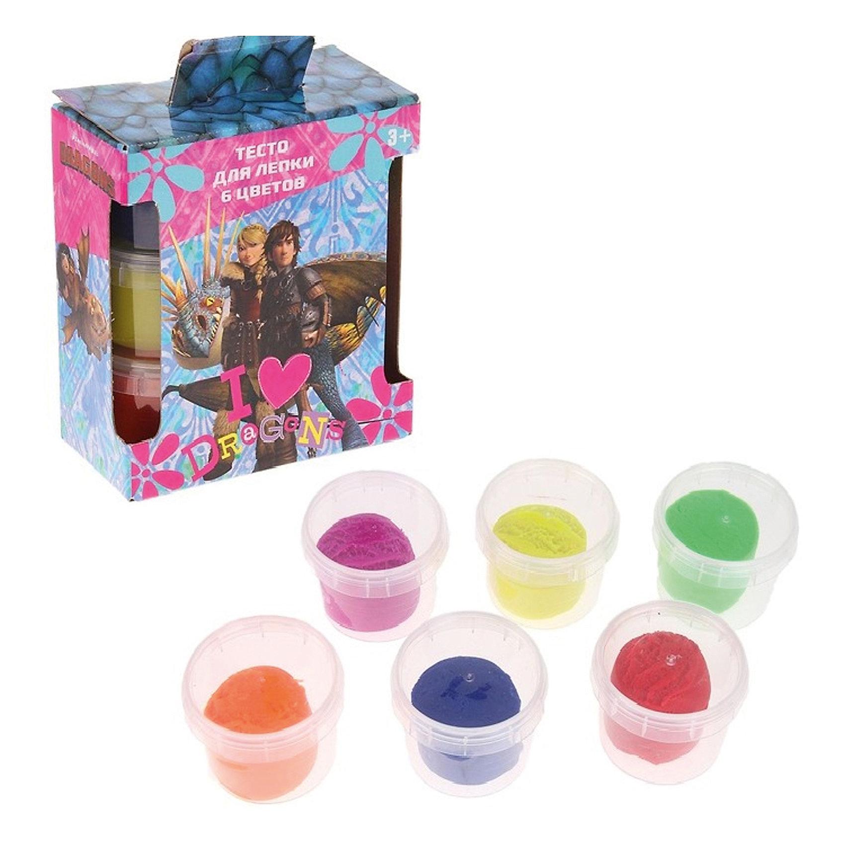 Набор теста для лепки Как приручить Дракона, 6 цветов * 80 гЛепка<br>Набор теста для лепки Как приручить Дракона, 6 цветов * 80 г<br><br>Характеристики:<br><br>- в набор входит: 6 цветов теста по 80 гр.<br>- состав: пластик, тесто: вода, кукурузный крахмал <br>- формат: 19 * 7 * 14,5 см.<br>- вес: 530 гр.<br>- для детей в возрасте: от 3 до 7 лет<br>- Страна производитель: Китай<br><br>Тесто для лепки в удобных пластиковых коробочках и рисунком из любимого мультфильма «Как приручить Дракона» придет по вкусу малышам и родителям. Компания Centrum (Центрум) специализируется на товарах для детского творчества и развития. Безопасный состав теста нетоксичен и безвреден для детей. Веселый дракон и яркие герои мультфильма понравятся как мальчикам, так и девочкам. Яркие цвета теста отлично смешиваются между собой и получаются новые оттенки, которые понравится вашим юным творцам. После игры тесто можно убрать в практичные пластиковые коробочки. Игра с тестом для лепки разрабатывает моторику ручек, творческие способности, успокаивает, помогает развить аккуратность и внимание. <br><br>Набор теста для лепки Как приручить Дракона, 6 цветов * 80 г можно купить в нашем интернет-магазине.<br><br>Ширина мм: 70<br>Глубина мм: 145<br>Высота мм: 190<br>Вес г: 530<br>Возраст от месяцев: 36<br>Возраст до месяцев: 120<br>Пол: Унисекс<br>Возраст: Детский<br>SKU: 5175409