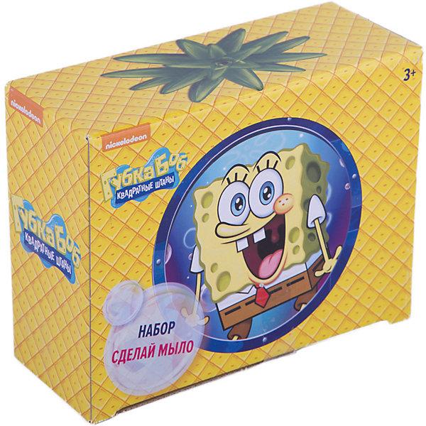 Набор Сделай мыло, Губка БобНаборы для создания мыла<br>Набор Сделай мыло, Губка Боб<br><br>Характеристики:<br><br>- в набор входит: подставка для зубных щеток, форма для мыла 2 шт, мыльная основа 75 гр.<br>- состав: мыло, пластик<br>- размер упаковки: 16 * 7,8 * 20,5 см.<br>- для детей в возрасте: от 3 до 7 лет<br>- страна производитель: Российская Федерация<br><br>Новый увлекательный набор для творчества Сделай мыло, Губка Боб от немецкого бренда Centrum (Центрум) специализирующегося  на товарах для детского творчества и развития понравится любителям мультфильма. Компания имеет необходимую лицензию Nickelodeon для производства товаров с героями и логотипом популярного мультсериала. Коробка сделана в цвете ананаса, совсем как домик Губки Боба. Пошаговая инструкция подробно описывает процесс выполнения мыла с объемным Губкой Бобом и его улиткой Гэри. Яркие и объемные работы будут гордо смотреться в ванной комнате или на полке, ведь ребенок сделал их сам. Сам процесс создания мыла очень увлекателен, и, на удивление, прост, поэтому ребенок сможет самостоятельно сделать свой небольшой шедевр и порадоваться результатам. Мыло можно также использовать как красивый подарок на память. Работая с таким набором ребенок развивает моторику рук, творческие способности, восприятие форм и аккуратность.<br><br>Набор Сделай мыло, Губка Боб можно купить в нашем интернет-магазине.<br><br>Ширина мм: 160<br>Глубина мм: 205<br>Высота мм: 78<br>Вес г: 100<br>Возраст от месяцев: 36<br>Возраст до месяцев: 120<br>Пол: Унисекс<br>Возраст: Детский<br>SKU: 5175425