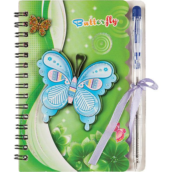 Блокнот с ручкой, 40 листовБлокноты и ежедневники<br>Блокнот с ручкой, 40 листов<br><br>Характеристики:<br><br>- в набор входит: блокнот на пружине, ручка<br>- состав: бумага (70 г/м2.), картон, пластик<br>- формат: 10,5 * 1 * 14 см.<br>- для детей в возрасте: от 3х лет<br>- страна производитель: Китай<br><br>Блокнот с завязочками и ручкой в комплекте от немецкого бренда Centrum (Центрум) понравится девочкам! Теперь записи будут надежно закрываться и листочки не помнутся. Блокнот в линейку идеально подходит как для записей стихотворений, так и рецептов. Сорок листов для свободного творчества позволят проявить свои способности. Приятный рисунок с нежными бабочками и цветочками соответствует современным тенденциям и придет по вкусу даже тинейджерам. Удобное дополнение - ручка в тон блокноту, поможет создать любой шедевр и будет всегда под рукой.<br><br>Блокнот с ручкой, 40 листов можно купить в нашем интернет-магазине.<br>Ширина мм: 12; Глубина мм: 110; Высота мм: 143; Вес г: 53; Возраст от месяцев: 36; Возраст до месяцев: 120; Пол: Женский; Возраст: Детский; SKU: 5175441;