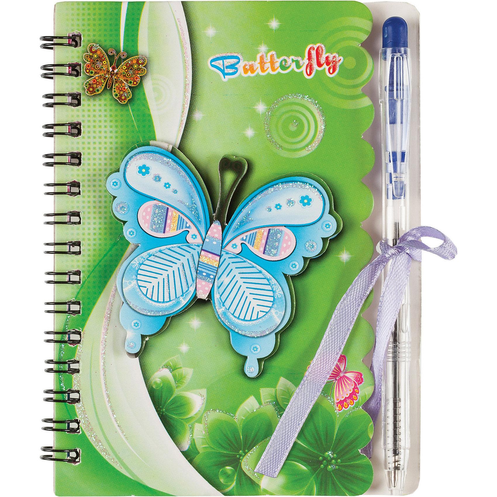 Блокнот с ручкой, 40 листовБлокнот с ручкой, 40 листов<br><br>Характеристики:<br><br>- в набор входит: блокнот на пружине, ручка<br>- состав: бумага (70 г/м2.), картон, пластик<br>- формат: 10,5 * 1 * 14 см.<br>- для детей в возрасте: от 3х лет<br>- страна производитель: Китай<br><br>Блокнот с завязочками и ручкой в комплекте от немецкого бренда Centrum (Центрум) понравится девочкам! Теперь записи будут надежно закрываться и листочки не помнутся. Блокнот в линейку идеально подходит как для записей стихотворений, так и рецептов. Сорок листов для свободного творчества позволят проявить свои способности. Приятный рисунок с нежными бабочками и цветочками соответствует современным тенденциям и придет по вкусу даже тинейджерам. Удобное дополнение - ручка в тон блокноту, поможет создать любой шедевр и будет всегда под рукой.<br><br>Блокнот с ручкой, 40 листов можно купить в нашем интернет-магазине.<br><br>Ширина мм: 12<br>Глубина мм: 110<br>Высота мм: 143<br>Вес г: 53<br>Возраст от месяцев: 36<br>Возраст до месяцев: 120<br>Пол: Женский<br>Возраст: Детский<br>SKU: 5175441