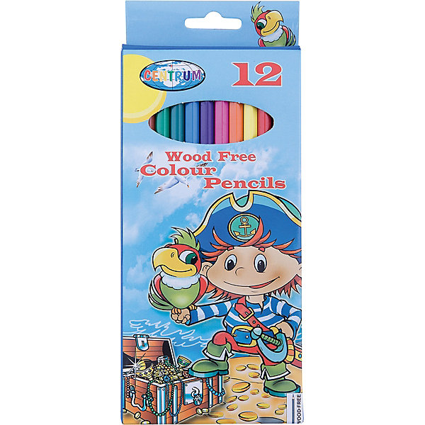 Длинные цветные карандаши Пират 12 цветовЦветные<br>Длинные цветные карандаши Пират 12 цветов<br><br>Характеристики:<br><br>- в набор входит: 12 карандашей <br>- состав: пластик картон<br>- длина карандашей: 17,7 см. <br>- размер упаковки: 24 * 1 * 12 см.<br>- для детей в возрасте: от 3 до 10 лет<br>- страна производитель: Китай<br><br>Набор цветных карандашей с рисунком озорного пирата понравится мальчишкам. Немецкая компания Centrum (Центрум) специализируется на товарах для детского творчества и развития. Яркая коробочка выполнена из картона и отлично вмещает все карандаши, не позволяя им разбегаться по столу или школьному ранцу. Сами карандаши выполнены из пластика, уже заточены, имеют мягкую структуру грифеля и рисуют яркие линии без сильного нажатия. Классические двенадцать цветов помогут нарисовать самый лучший шедевр и просто отлично провести время. Рисование карандашами разрабатывает моторику ручек, творческие способности, успокаивает, помогает развить аккуратность и внимание. <br><br>Длинные цветные карандаши Пират 12 цветов можно купить в нашем интернет-магазине.<br><br>Ширина мм: 10<br>Глубина мм: 90<br>Высота мм: 205<br>Вес г: 94<br>Возраст от месяцев: 36<br>Возраст до месяцев: 120<br>Пол: Мужской<br>Возраст: Детский<br>SKU: 5175447