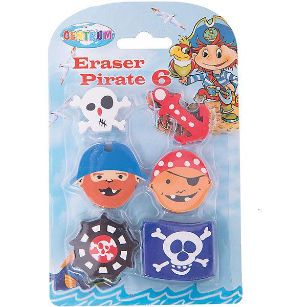 Ластики Пираты, 6 штук (каучук)Чертежные принадлежности<br>Ластики Пираты, 6 штук (каучук)<br><br>Характеристики:<br><br>- в набор входит: 6 ластиков<br>- состав: каучук<br>- размер упаковки: 15 * 1 * 9,5 см.<br>- для детей в возрасте: от 3х лет<br>- страна производитель: Китай<br><br>Целый набор ярких и интересных ластиков из коллекции «Пираты» от немецкого бренда Centrum (Центрум) обязательно понравится мальчикам! Теперь все ненужные записи будут надежно удалены. Ластики не оставляют много катышек, удобны в использовании, не оставляют следов, отлично стирают надписи карандаша. Веселые ластики в виде пиратов, флага, якоря и пр. упакованы в блистер. <br><br>Ластики Пираты, 6 штук (каучук)можно купить в нашем интернет-магазине.<br>Ширина мм: 10; Глубина мм: 95; Высота мм: 150; Вес г: 77; Возраст от месяцев: 36; Возраст до месяцев: 120; Пол: Мужской; Возраст: Детский; SKU: 5175457;