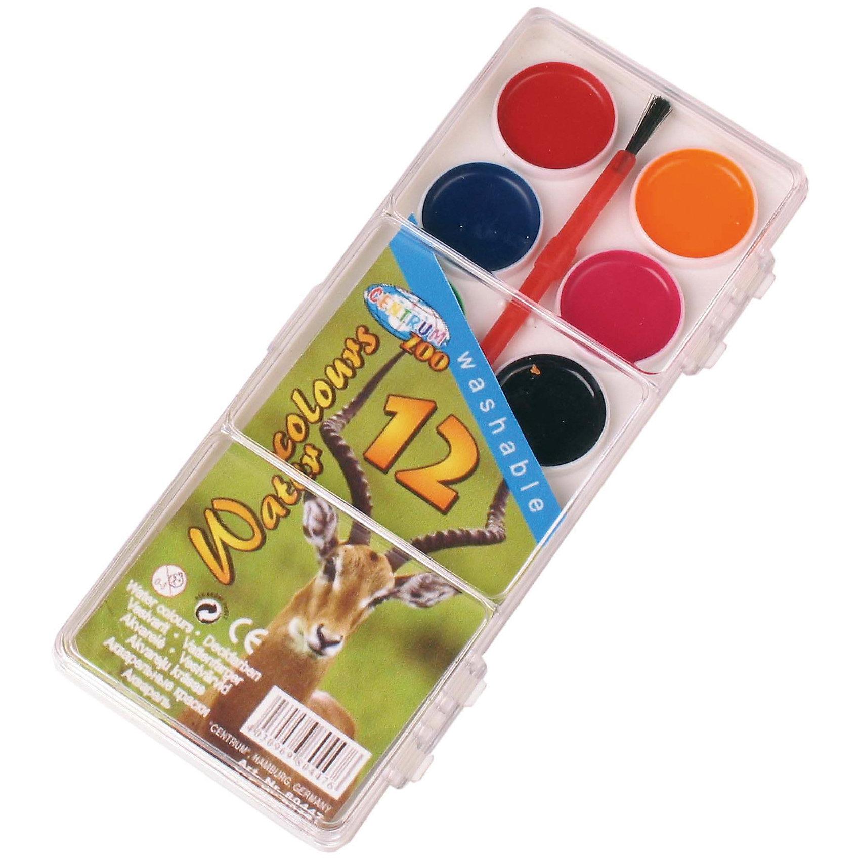 Акварель медовая 12 цветовАкварель<br>Акварель медовая 12 цветов<br><br>Характеристики:<br><br>- в набор входит: краски, кисть<br>- размер упаковки: 16,5 * 1 * 6,5 см.<br>- для детей в возрасте: от 3 до 10 лет<br>- страна производитель: Китай<br><br>Целый набор ярких акварельных красок из коллекции «Зоопарк» от немецкого бренда Centrum (Центрум) понравится как девочкам, так и мальчикам! Классические двенадцать цветов, которые можно смешивать между собой позволят выполнить любой шедевр. Специальная формула красок хорошо отмывается от одежды и в тоже время позволяет цветам быть насыщенными на альбомном листе. Работая с краскам дети развивают творческие способности, аккуратность, моторику рук, усидчивость, восприятие цвета и логику смешивания цветов, выражают свой внутренний мир в рисунках. <br><br>Акварель медовую 12 цветов можно купить в нашем интернет-магазине.<br><br>Ширина мм: 10<br>Глубина мм: 65<br>Высота мм: 165<br>Вес г: 54<br>Возраст от месяцев: 36<br>Возраст до месяцев: 120<br>Пол: Унисекс<br>Возраст: Детский<br>SKU: 5175459