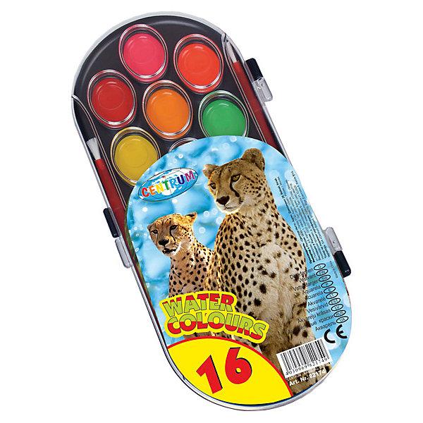 Акварель медовая 16 цветовАкварель<br>Акварель медовая 16 цветов<br><br>Характеристики:<br><br>- в набор входит: краски, кисть<br>- размер упаковки: 10 * 1 * 21 см.<br>- для детей в возрасте: от 3 до 10 лет<br>- страна производитель: Китай<br><br>Целый набор ярких акварельных красок из коллекции «Зоопарк» от немецкого бренда Centrum (Центрум) понравится как девочкам, так и мальчикам! Целых шестнадцать цветов, которые можно смешивать между собой позволят выполнить любой шедевр. Специальная формула красок хорошо отмывается от одежды и в тоже время позволяет цветам быть насыщенными на альбомном листе. Работая с краскам дети развивают творческие способности, аккуратность, моторику рук, усидчивость, восприятие цвета и логику смешивания цветов, выражают свой внутренний мир в рисунках. <br><br>Акварель медовая 16 цветов можно купить в нашем интернет-магазине.<br>Ширина мм: 15; Глубина мм: 210; Высота мм: 100; Вес г: 100; Возраст от месяцев: 36; Возраст до месяцев: 120; Пол: Унисекс; Возраст: Детский; SKU: 5175460;