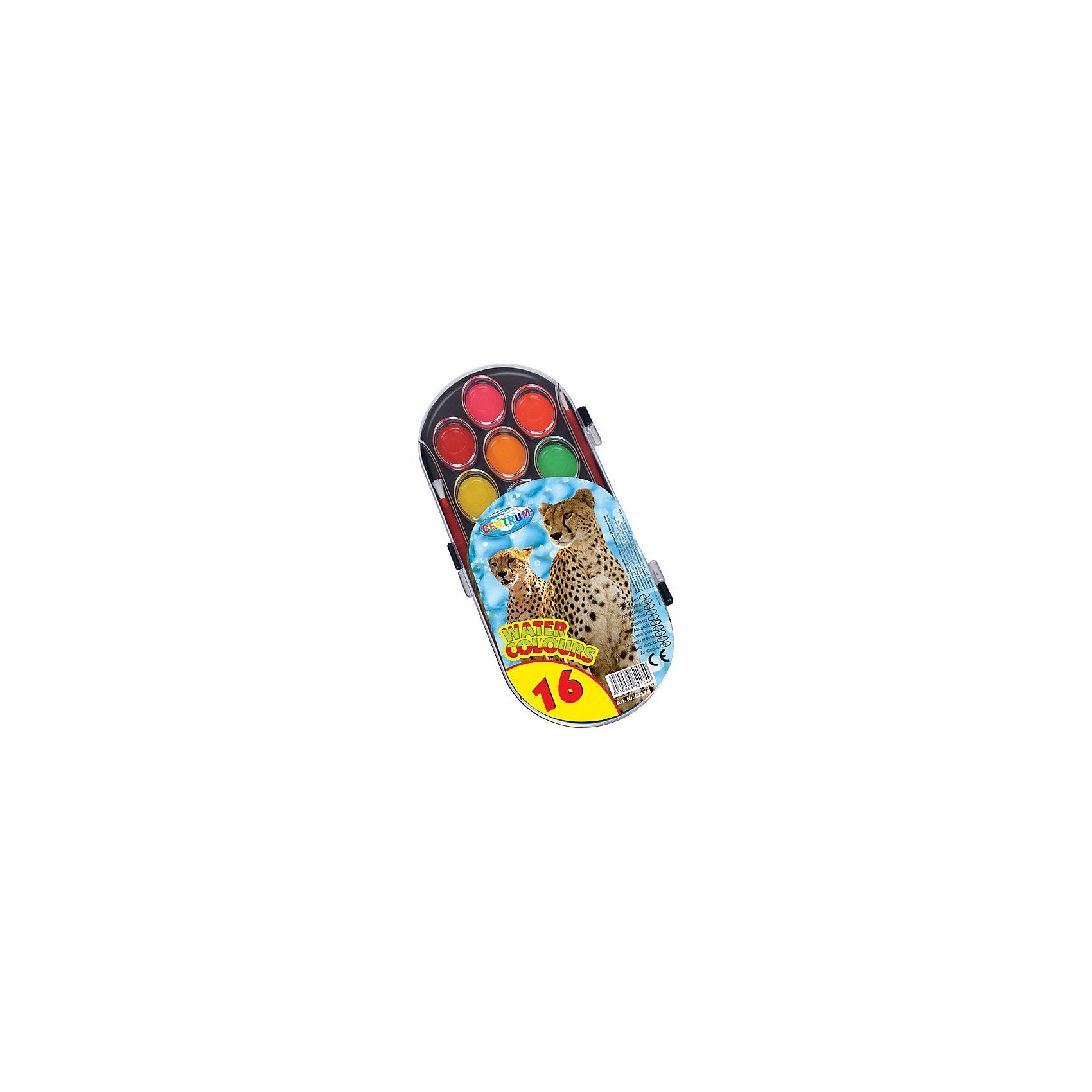 Акварель медовая 16 цветовАкварель<br>Акварель медовая 16 цветов<br><br>Характеристики:<br><br>- в набор входит: краски, кисть<br>- размер упаковки: 10 * 1 * 21 см.<br>- для детей в возрасте: от 3 до 10 лет<br>- страна производитель: Китай<br><br>Целый набор ярких акварельных красок из коллекции «Зоопарк» от немецкого бренда Centrum (Центрум) понравится как девочкам, так и мальчикам! Целых шестнадцать цветов, которые можно смешивать между собой позволят выполнить любой шедевр. Специальная формула красок хорошо отмывается от одежды и в тоже время позволяет цветам быть насыщенными на альбомном листе. Работая с краскам дети развивают творческие способности, аккуратность, моторику рук, усидчивость, восприятие цвета и логику смешивания цветов, выражают свой внутренний мир в рисунках. <br><br>Акварель медовая 16 цветов можно купить в нашем интернет-магазине.<br><br>Ширина мм: 15<br>Глубина мм: 210<br>Высота мм: 100<br>Вес г: 100<br>Возраст от месяцев: 36<br>Возраст до месяцев: 120<br>Пол: Унисекс<br>Возраст: Детский<br>SKU: 5175460