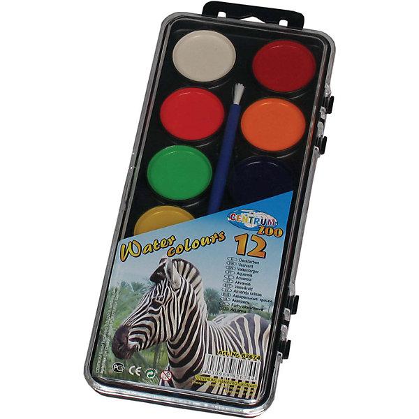 Краски акварельные, 12 цветовАкварель<br>Акварель медовая 12 цветов<br><br>Характеристики:<br><br>- в набор входит: краски, кисть<br>- размер упаковки: 9 * 1 * 30 см.<br>- для детей в возрасте: от 3 до 10 лет<br>- страна производитель: Китай<br><br>Целый набор ярких акварельных красок из коллекции «Зоопарк» от немецкого бренда Centrum (Центрум) понравится как девочкам, так и мальчикам! Классические двенадцать цветов, которые можно смешивать между собой позволят выполнить любой шедевр. Специальная формула красок хорошо отмывается от одежды и в тоже время позволяет цветам быть насыщенными на альбомном листе. Работая с краскам дети развивают творческие способности, аккуратность, моторику рук, усидчивость, восприятие цвета и логику смешивания цветов, выражают свой внутренний мир в рисунках. <br><br>Акварель медовую 12 цветов можно купить в нашем интернет-магазине.<br><br>Ширина мм: 300<br>Глубина мм: 90<br>Высота мм: 10<br>Вес г: 102<br>Возраст от месяцев: 36<br>Возраст до месяцев: 120<br>Пол: Унисекс<br>Возраст: Детский<br>SKU: 5175462