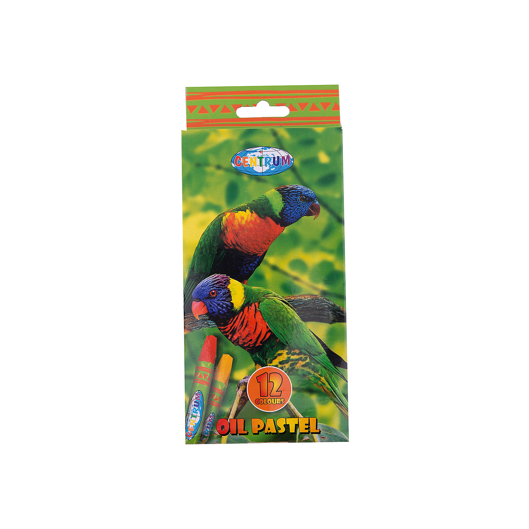 CENTRUM Мелки пастельные масляные, 12 цветов мелки восковые 12 цв centrum monster high в карт уп 85060