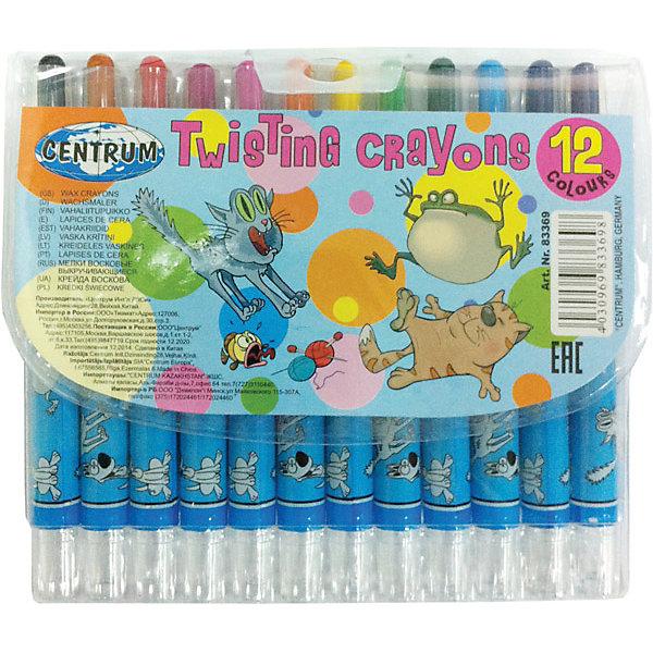 Мелки восковые выдвижные Twist, 12 цветовМасляные и восковые мелки<br>Мелки восковые выдвижные Twist, 12 цветов<br><br>Характеристики:<br><br>- в набор входит: 12 мелков<br>- состав: пластик, восковые мелки на масляной основе<br>- размер упаковки: 13,5 * 1 * 15,5 см.<br>- для детей в возрасте: от 3 до 6 лет<br>- страна производитель: Китай<br><br>Набор выдвижных мелков из воска на масленой основе от немецкого бренда Centrum (Центрум) придет по вкусу как продвинутым художникам, так и начинающим. Рисунок мелками ложится на бумагу, картон, дерево. Пластиковый корпус позволяет оставлять ручки чистыми и оставлять рисунок, только на поверхности. Линии мелков насыщенные и яркие, почти как у фломастеров. При нанесении мелки не осыпаются и надолго сохраняют яркость цветов. Набор включает классические двенадцать цветов, открывая просторы для творчества и вдохновляя на создание новых шедевров. Работая с восковыми мелками дети развивают творческие способности, аккуратность, моторику рук, усидчивость, восприятие цвета и выражают свой внутренний мир в рисунках. <br><br>Мелки восковые выдвижные Twist, 12 цветов можно купить в нашем интернет-магазине.<br><br>Ширина мм: 10<br>Глубина мм: 135<br>Высота мм: 155<br>Вес г: 102<br>Возраст от месяцев: 36<br>Возраст до месяцев: 120<br>Пол: Унисекс<br>Возраст: Детский<br>SKU: 5175471