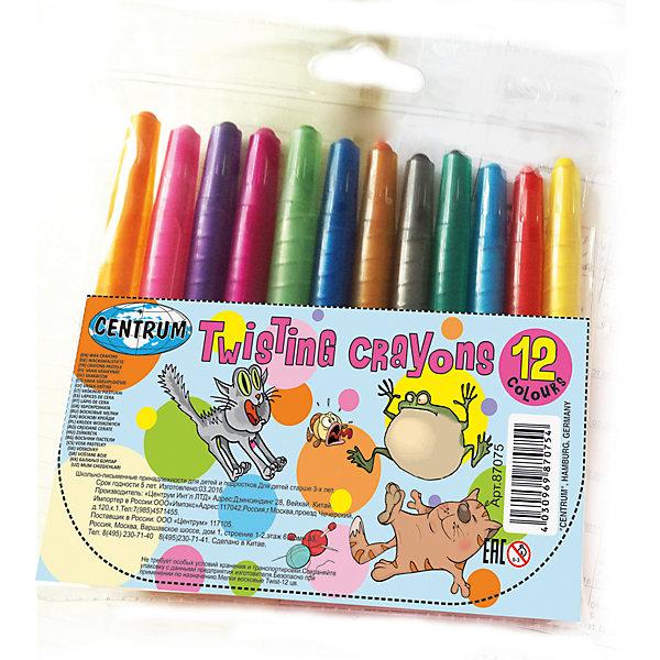 Мелки восковые 12 цветов, выдвижныеМасляные и восковые мелки<br>Мелки восковые 12 цветов, выдвижные<br><br>Характеристики:<br><br>- в набор входит: 12 мелков<br>- состав: пластик, восковые мелки на масляной основе<br>- размер упаковки: 14,5 * 1 * 13 см.<br>- для детей в возрасте: от 3 до 6 лет<br>- страна производитель: Китай<br><br>Набор выдвижных мелков из воска на масленой основе от немецкого бренда Centrum (Центрум) придет по вкусу как продвинутым художникам, так и начинающим. Рисунок мелками ложится на бумагу, картон, дерево. Пластиковый корпус позволяет оставлять ручки чистыми и оставлять рисунок, только на поверхности. Линии мелков насыщенные и яркие, почти как у фломастеров. При нанесении мелки не осыпаются и надолго сохраняют яркость цветов. Набор включает классические двенадцать цветов, открывая просторы для творчества и вдохновляя на создание новых шедевров. Работая с восковыми мелками дети развивают творческие способности, аккуратность, моторику рук, усидчивость, восприятие цвета и выражают свой внутренний мир в рисунках. <br><br>Мелки восковые 12 цветов, выдвижные можно купить в нашем интернет-магазине.<br>Ширина мм: 10; Глубина мм: 130; Высота мм: 145; Вес г: 87; Возраст от месяцев: 36; Возраст до месяцев: 120; Пол: Унисекс; Возраст: Детский; SKU: 5175472;
