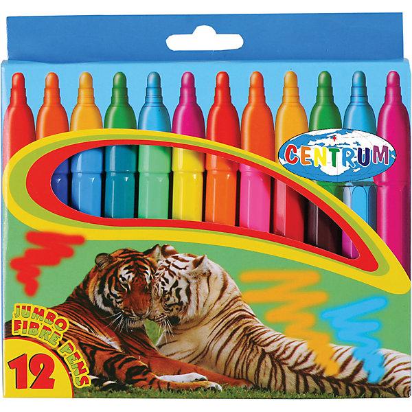 Фломастеры JUMBO, 12 цветовФломастеры<br>Фломастеры JUMBO, 12 цветов<br><br>Характеристики:<br><br>- в набор входит: 12 фломастеров<br>- состав: пластик, краска<br>- длина фломастера: 13,5 см.; диаметр: 1,2 см.<br>- размер упаковки: 18,5 * 2 * 20 см.<br>- вес: 160 г.<br>- для детей в возрасте: от 3 до 6 лет<br>- страна производитель: Китай<br><br>Набор крупных ярких фломастеров на водной основе от немецкого бренда Centrum (Центрум) придет по вкусу начинающим художникам. Яркие рисунки на упаковке вдохновляют на новые шедевры. Рисунок фломастерами ложится на бумагу, картон, дерево. Яркие и насыщенные линии сделают рисунок неповторимым. Кроме рисования, фломастеры отлично подойдут для графического оформления. Пластиковый корпус фломастеров с вентилируемым колпачком удобно ложится в руку. Набор включает классические двенадцать цветов, открывая просторы для творчества. Рисуя фломастерами дети развивают творческие способности, аккуратность, моторику рук, усидчивость, восприятие цвета и выражают свой внутренний мир в рисунках. <br><br>Фломастеры JUMBO, 12 цветов можно купить в нашем интернет-магазине.<br>Ширина мм: 185; Глубина мм: 170; Высота мм: 20; Вес г: 167; Возраст от месяцев: 36; Возраст до месяцев: 120; Пол: Унисекс; Возраст: Детский; SKU: 5175476;