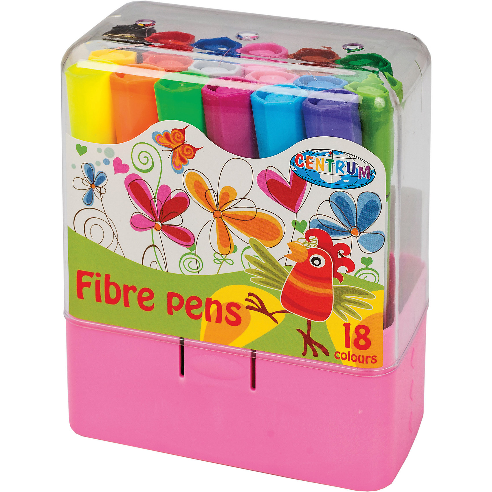 CENTRUM Фломастеры толстые, 18 цветов наборы для рисования centrum фломастеры распылители 12 цветов