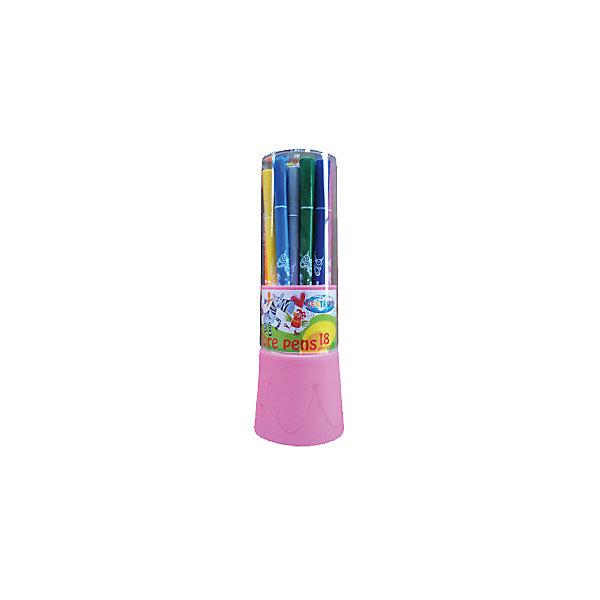 Фломастеры Жираф, 18 цветовФломастеры<br>Фломастеры Жираф, 18 цветов<br><br>Характеристики:<br><br>- в набор входит: 18 фломастеров<br>- состав: пластик, краска<br>- размер упаковки: 6 * 6 * 17,5 см.<br>- вес: 140 г.<br>- для детей в возрасте: от 3 до 6 лет<br>- страна производитель: Китай<br><br>Набор ярких фломастеров на водной основе от немецкого бренда Centrum (Центрум) придет по вкусу как продвинутым художникам, так и начинающим. Картинки на упаковке вдохновляют на новые шедевры. Рисунок фломастерами ложится на бумагу, картон, дерево. Яркие и насыщенные линии сделают вашу работу неповторимой. Кроме рисования, фломастеры отлично подойдут для графического оформления. Пластиковый корпус фломастеров с вентилируемым колпачком удобно ложится в руку, а после работы все фломастеры убираются в пластиковую коробочку. Набор включает восемнадцать цветов, открывая просторы для творчества. Рисуя фломастерами дети развивают творческие способности, аккуратность, моторику рук, усидчивость, восприятие цвета и выражают свой внутренний мир в рисунках. <br><br>Фломастеры Жираф, 18 цветов можно купить в нашем интернет-магазине.<br>Ширина мм: 60; Глубина мм: 60; Высота мм: 175; Вес г: 147; Возраст от месяцев: 36; Возраст до месяцев: 120; Пол: Унисекс; Возраст: Детский; SKU: 5175480;