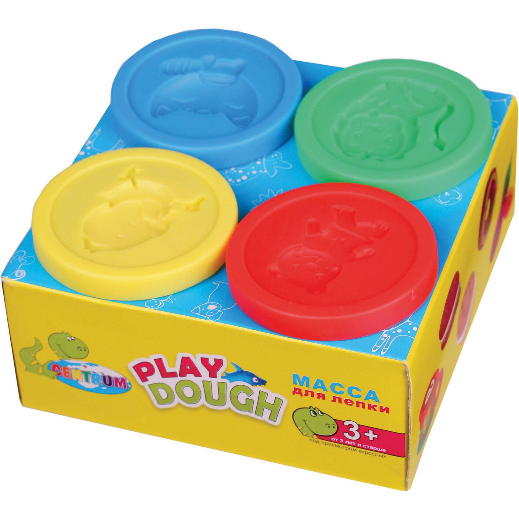Тесто для лепки, 4 цвета в банкахТесто для лепки<br>Тесто для лепки, 4 цвета в банках<br><br>Характеристики:<br><br>- в набор входит: 4 банки с тестом по 50 гр.<br>- состав: пластик, тесто: вода, мука, масло. <br>- формат: 12 * 5 * 12 см.<br>- вес: 300 гр.<br>- для детей в возрасте: от 3 до 7 лет<br>- Страна производитель: Китай<br><br>Тесто для лепки в удобных баночках с формочками в крышках придет по вкусу малышам и родителям. Немецкая компания Centrum (Центрум) специализируется на товарах для детского творчества и развития. Безопасный состав теста нетоксичен и безопасен для детей. Веселые формочки и яркие рисунки на коробочке вдохновят как девочек, так и мальчиков. Яркие четыре цвета теста можно смешивать между собой и получать новые оттенки, что понравится юным творцам. После игры тесто можно хранить в практичных баночках из комплекта. Работа с тестом для лепки разрабатывает моторику рук, творческие способности, успокаивает, помогает развить аккуратность и внимание. <br><br>Тесто для лепки, 4 цвета в банках можно купить в нашем интернет-магазине.<br><br>Ширина мм: 50<br>Глубина мм: 105<br>Высота мм: 105<br>Вес г: 300<br>Возраст от месяцев: 36<br>Возраст до месяцев: 120<br>Пол: Унисекс<br>Возраст: Детский<br>SKU: 5175485