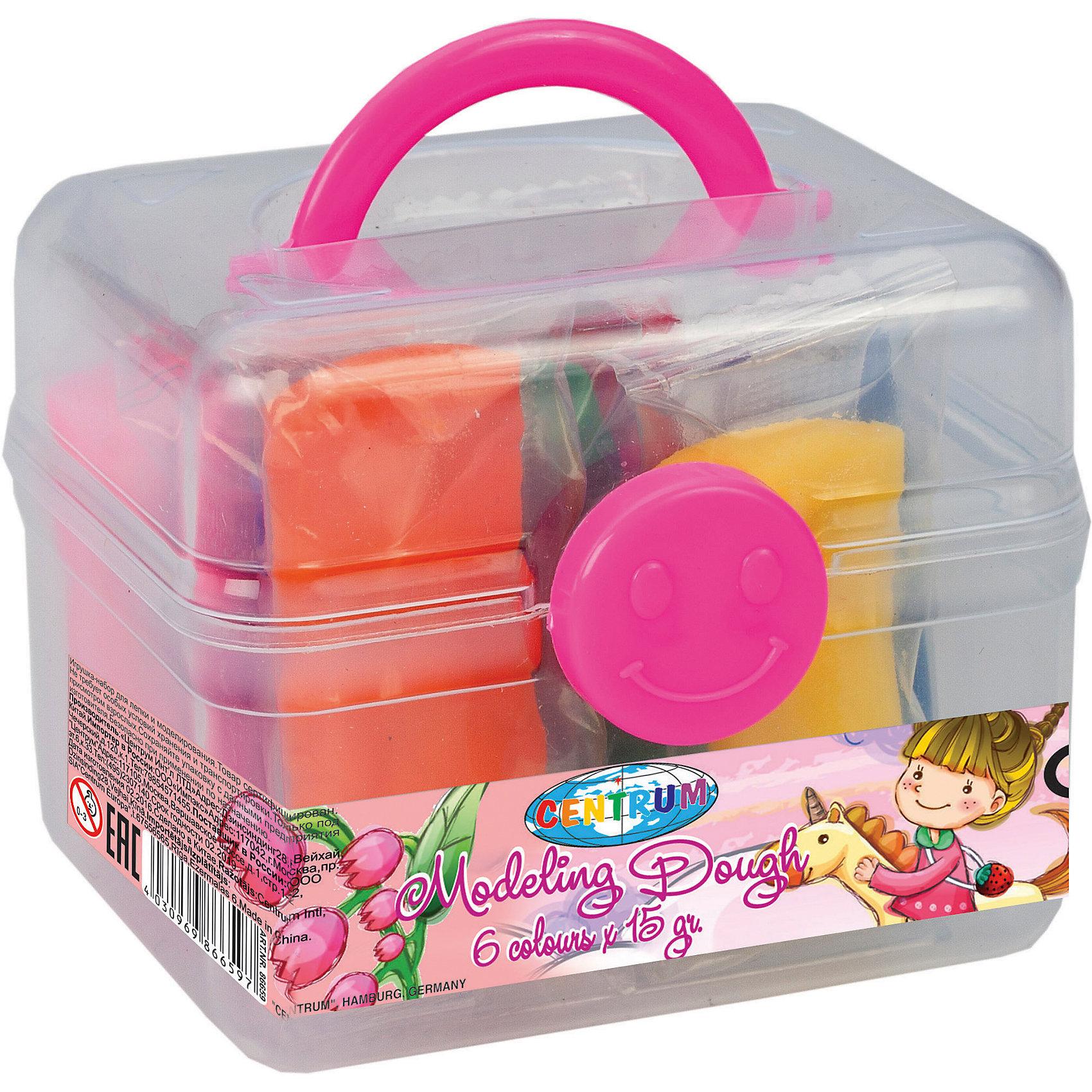 Тесто для лепки Девочка 6 цветов * 15 гЛепка<br>Тесто для лепки Девочка 6 цветов * 15 г<br><br>Характеристики:<br><br>- в набор входит: чемоданчик, 6 цветов теста по 15 гр.<br>- состав: пластик, тесто: вода, мука, масло. <br>- формат: 9 * 7,5 * 7 см.<br>- вес: 150 гр.<br>- для детей в возрасте: от 3 до 7 лет<br>- Страна производитель: Китай<br><br>Тесто для лепки в удобном чемоданчике Девочка придет по вкусу малышам и родителям. Компания Centrum (Центрум) специализируется на товарах для детского творчества и развития. Безопасный состав теста нетоксичен и безопасен для детей. Веселая девочка и яркие рисунки на чемоданчике понравятся девочкам. Яркие шесть цветов теста можно смешивать между собой и получать новые оттенки, что понравится юным творцам. После игры тесто можно хранить в практичном пластиковом чемоданчике из комплекта. Работа с тестом для лепки разрабатывает моторику рук, творческие способности, успокаивает, помогает развить аккуратность и внимание. <br><br>Тесто для лепки Девочка 6 цветов * 15 г можно купить в нашем интернет-магазине.<br><br>Ширина мм: 75<br>Глубина мм: 90<br>Высота мм: 70<br>Вес г: 150<br>Возраст от месяцев: 36<br>Возраст до месяцев: 120<br>Пол: Женский<br>Возраст: Детский<br>SKU: 5175487