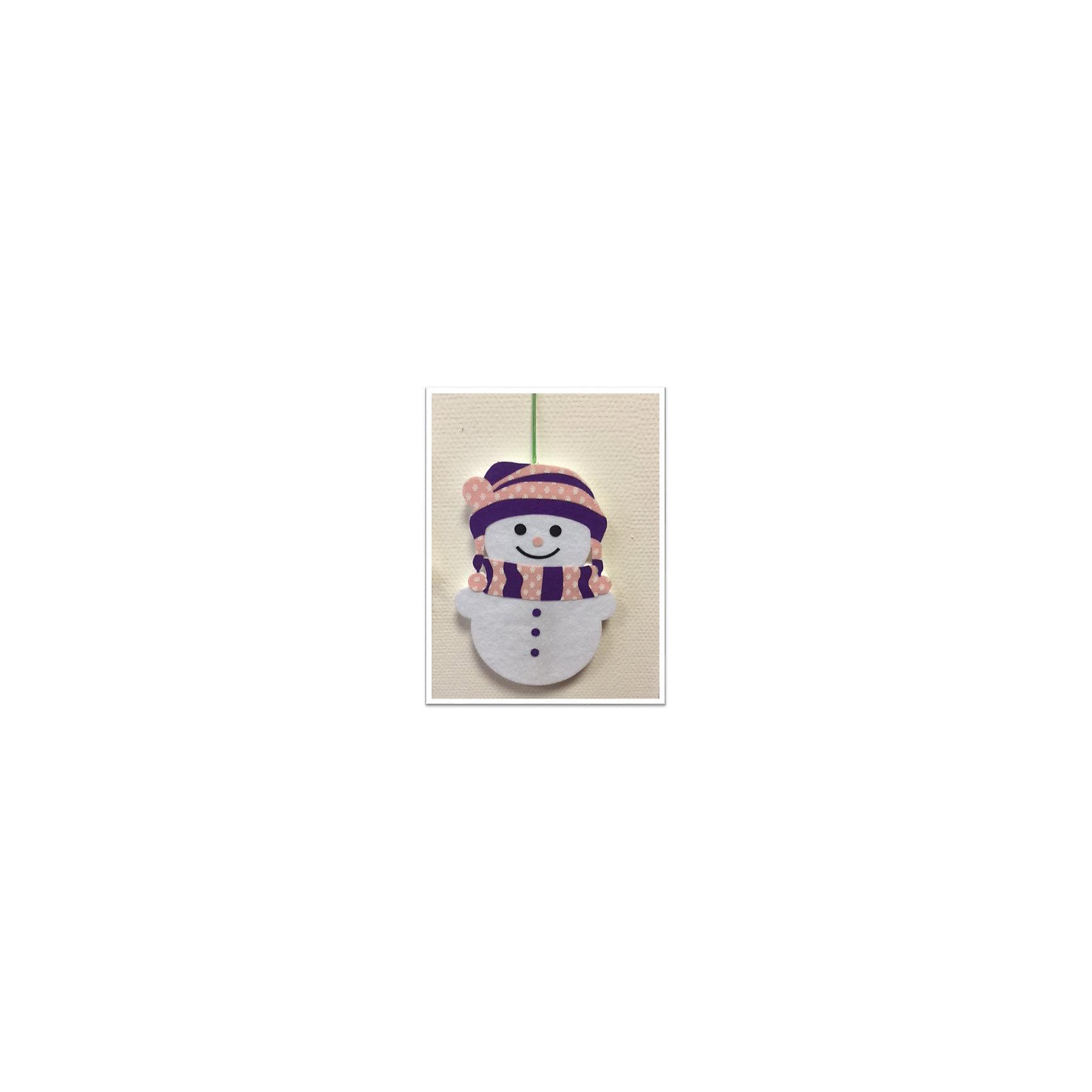 CENTRUM Набор для детского творчества Снеговик из фетра, высота 30 см набор для детского творчества набор веселая кондитерская 1 кг