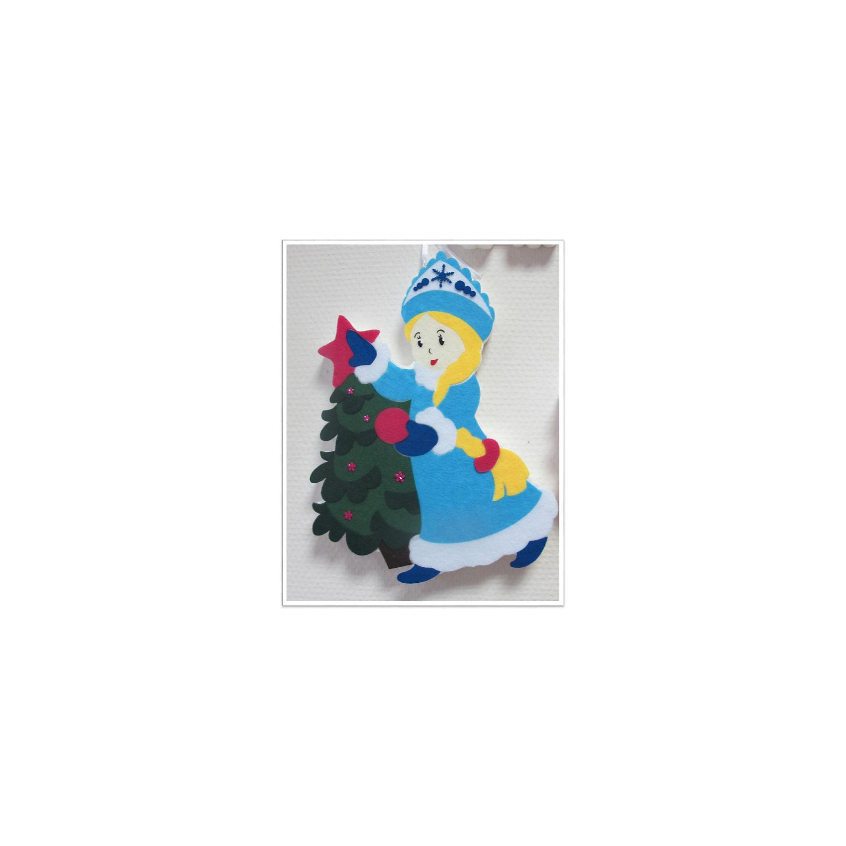 CENTRUM Набор для детского творчества Снегурочка из фетра, высота 30 см набор для детского творчества набор веселая кондитерская 1 кг