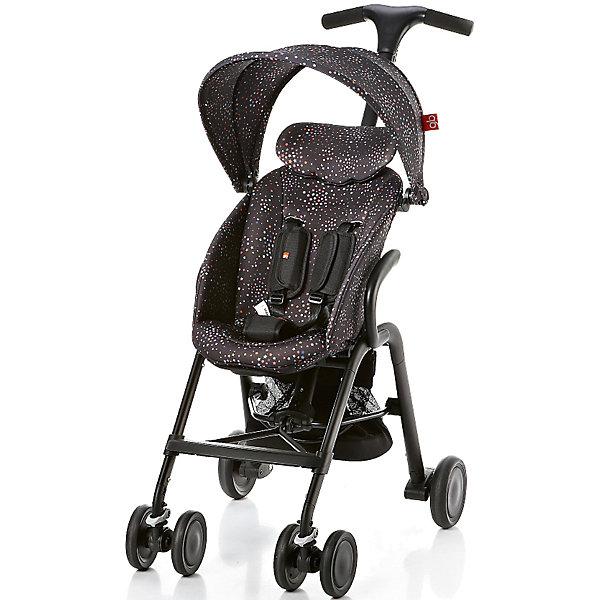 Прогулочная коляска GB T-BAR D330J, черныйПрогулочные коляски<br>Коляска прогулочная T-BAR D330J, GB, черный<br><br>Характеристики:<br><br>- в набор входит: коляска, козырек <br>- материал: алюминий, текстиль, пластик<br>- колеса: EVA-резина и полиуретан<br>- размер разложенной коляски: 53 * 91 * 105 см.<br>- размер в сложенном виде: 53 * 40 * 91 см.<br>- вес коляски: 7,6 кг.<br><br>Надежная коляска от известного международного европейского бренда товаров для детей GB (ДжиБи) сделает прогулку с малышом комфортным приключением. Стильный дизайн и качественное исполнение позволят коляске прослужить много лет. Т-образная ручка обеспечивает наибольшую маневренность в городе и ее высота регулируется в три положения. Стильный козырек закрывает малыша от яркого солнца и удобно регулируется, давая возможность полностью закрыть малыша спереди. Спинка сидения регулируется в два положения, в которых малыш сможет немного отдохнуть, а мягкий регулирующийся подголовник добавит малышу комфорта. Прочные бесшумные двойные передние колеса поворачиваются (можно зафиксировать), задние колеса оснащены амортизацией, такое сочетание позволяет осуществить наибольшую проходимость и устойчивость коляски. Для удобства хранения и перемещения коляска легко складывается по принципу «книжка». Безопасность малыша обеспечивает пятиточечный ремень с мягкими накладками. Небольшая корзина коляски легка в доступе и позволит взять с собой самое необходимое на прогулку. С этой легкой и компактной коляской вы будете чувствовать себя уверенно как на прогулке, так и в магазине.<br><br>Коляску прогулочную T-BAR D330J, черный, GB (ДжиБи) можно купить в нашем интернет-магазине.<br><br>Ширина мм: 900<br>Глубина мм: 500<br>Высота мм: 300<br>Вес г: 9000<br>Цвет: черный<br>Возраст от месяцев: 6<br>Возраст до месяцев: 36<br>Пол: Унисекс<br>Возраст: Детский<br>SKU: 5176042