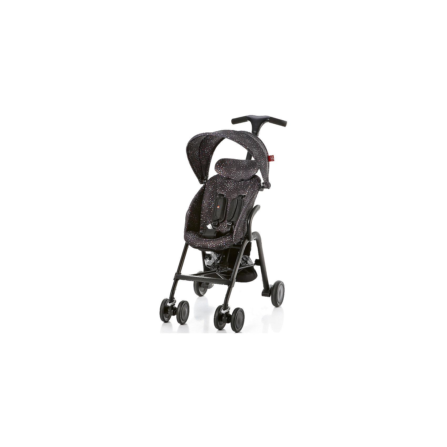 Прогулочная коляска GB T-BAR D330J, черныйПрогулочные коляски<br>Коляска прогулочная T-BAR D330J, GB, черный<br><br>Характеристики:<br><br>- в набор входит: коляска, козырек <br>- материал: алюминий, текстиль, пластик<br>- колеса: EVA-резина и полиуретан<br>- размер разложенной коляски: 53 * 91 * 105 см.<br>- размер в сложенном виде: 53 * 40 * 91 см.<br>- вес коляски: 7,6 кг.<br><br>Надежная коляска от известного международного европейского бренда товаров для детей GB (ДжиБи) сделает прогулку с малышом комфортным приключением. Стильный дизайн и качественное исполнение позволят коляске прослужить много лет. Т-образная ручка обеспечивает наибольшую маневренность в городе и ее высота регулируется в три положения. Стильный козырек закрывает малыша от яркого солнца и удобно регулируется, давая возможность полностью закрыть малыша спереди. Спинка сидения регулируется в два положения, в которых малыш сможет немного отдохнуть, а мягкий регулирующийся подголовник добавит малышу комфорта. Прочные бесшумные двойные передние колеса поворачиваются (можно зафиксировать), задние колеса оснащены амортизацией, такое сочетание позволяет осуществить наибольшую проходимость и устойчивость коляски. Для удобства хранения и перемещения коляска легко складывается по принципу «книжка». Безопасность малыша обеспечивает пятиточечный ремень с мягкими накладками. Небольшая корзина коляски легка в доступе и позволит взять с собой самое необходимое на прогулку. С этой легкой и компактной коляской вы будете чувствовать себя уверенно как на прогулке, так и в магазине.<br><br>Коляску прогулочную T-BAR D330J, черный, GB (ДжиБи) можно купить в нашем интернет-магазине.<br><br>Ширина мм: 900<br>Глубина мм: 500<br>Высота мм: 300<br>Вес г: 9000<br>Возраст от месяцев: 6<br>Возраст до месяцев: 36<br>Пол: Унисекс<br>Возраст: Детский<br>SKU: 5176042