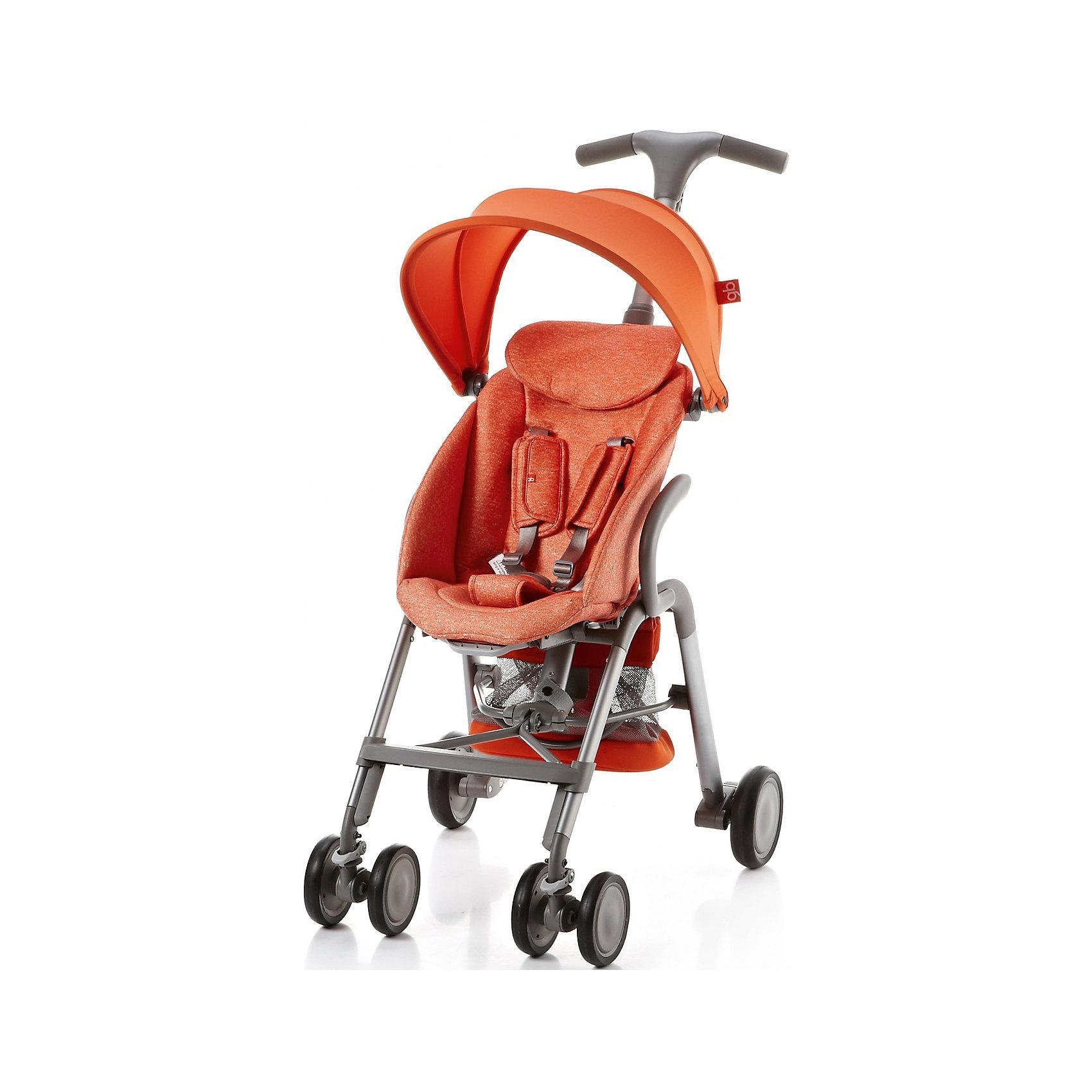 Прогулочная коляска GB T-BAR D330J, оранжевыйПрогулочные коляски<br>Коляска прогулочная T-BAR D330J, GB, оранжевый<br><br>Характеристики:<br><br>- в набор входит: коляска, козырек <br>- материал: алюминий, текстиль, пластик<br>- колеса: EVA-резина и полиуретан<br>- размер разложенной коляски: 53 * 91 * 105 см.<br>- размер в сложенном виде: 53 * 40 * 91 см.<br>- вес коляски: 7,6 кг.<br><br>Надежная коляска от известного международного европейского бренда товаров для детей GB (ДжиБи) сделает прогулку с малышом комфортным приключением. Стильный дизайн и качественное исполнение позволят коляске прослужить много лет. Т-образная ручка обеспечивает наибольшую маневренность в городе и ее высота регулируется в три положения. Стильный козырек закрывает малыша от яркого солнца и удобно регулируется, давая возможность полностью закрыть малыша спереди. Спинка сидения регулируется в два положения, в которых малыш сможет немного отдохнуть, а мягкий регулирующийся подголовник добавит малышу комфорта. Прочные бесшумные двойные передние колеса поворачиваются (можно зафиксировать), задние колеса оснащены амортизацией, такое сочетание позволяет осуществить наибольшую проходимость и устойчивость коляски. Для удобства хранения и перемещения коляска легко складывается по принципу «книжка». Безопасность малыша обеспечивает пятиточечный ремень с мягкими накладками. Небольшая корзина коляски легка в доступе и позволит взять с собой самое необходимое на прогулку. С этой легкой и компактной коляской вы будете чувствовать себя уверенно как на прогулке, так и в магазине.<br><br>Коляску прогулочную T-BAR D330J, оранжевый, GB (ДжиБи) можно купить в нашем интернет-магазине.<br><br>Ширина мм: 900<br>Глубина мм: 500<br>Высота мм: 300<br>Вес г: 9000<br>Возраст от месяцев: 6<br>Возраст до месяцев: 36<br>Пол: Унисекс<br>Возраст: Детский<br>SKU: 5176045