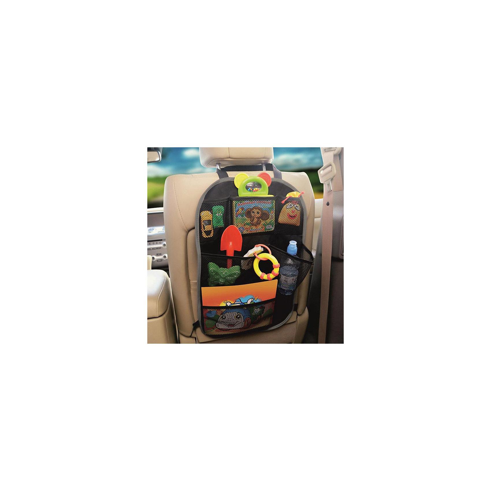 Siger Органайзер на спинку сиденья ORG-3 с сетчатыми карманами, Siger органайзер autoprofi org 10 bk