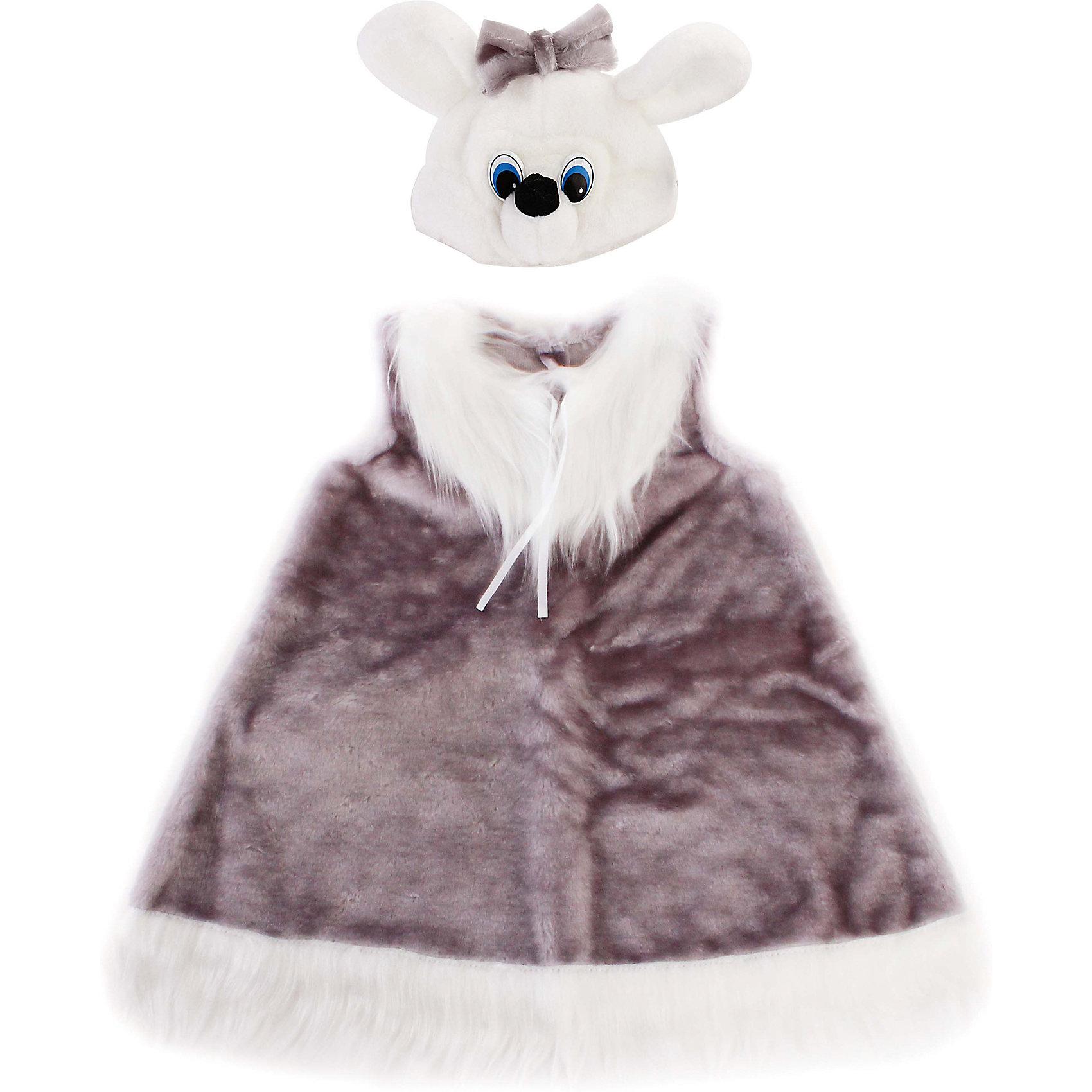 Костюм Мышка, в ассортиментеКарнавальные костюмы и аксессуары<br>Характеристики товара:<br><br>• цвет: серый<br>• комплектация: шапка, сарафан<br>• материал: текстиль, искусственный мех<br>• размер упаковки: 35х10х47 см<br>• упаковка: пакет<br>• возраст: от 4 лет<br>• страна бренда: Российская Федерация<br>• страна изготовитель: Российская Федерация<br><br>Новогодние праздники - отличная возможность перевоплотиться в кого угодно, надев маскарадный костюм. Этот набор позволит ребенку мгновенно превратиться в симпатичную мышку!<br>Он состоит из двух предметов, которые подойдут дошкольникам и младшим школьникам - размер универсален. Изделия удобно сидят и позволяют ребенку наслаждаться праздником или принимать участие в постановке. Модель хорошо проработана, сшита из качественных и проверенных материалов, которые безопасны для детей.<br><br>Костюм Мышка, в ассортименте, можно купить в нашем интернет-магазине.<br><br>Ширина мм: 310<br>Глубина мм: 460<br>Высота мм: 80<br>Вес г: 170<br>Возраст от месяцев: 36<br>Возраст до месяцев: 96<br>Пол: Женский<br>Возраст: Детский<br>SKU: 5177192