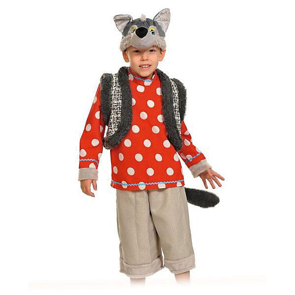 Костюм Волк Зубами щёлк, рост 104-134, КарнавалоффКарнавальные костюмы для мальчиков<br>Характеристики товара:<br><br>• комплектация: маска, рубаха, жилет, бриджи<br>• материал: текстиль, пластик, искусственный мех<br>• для праздников и постановок<br>• упаковка: пакет<br>• возраст: от 4 лет<br>• страна бренда: Российская Федерация<br>• страна изготовитель: Российская Федерация<br><br>Новогодние праздники - отличная возможность перевоплотиться в кого угодно, надев маскарадный костюм. Этот набор позволит ребенку мгновенно превратиться в серого волка!<br>Он состоит из четырех предметов, которые подойдут дошкольникам и младшим школьникам - костюм рассчитан на рост от 100 см до 125 см. Изделия удобно сидят и позволяют ребенку наслаждаться праздником или принимать участие в постановке. Модель хорошо проработана, сшита из качественных и проверенных материалов, которые безопасны для детей.<br><br>Костюм Волк-зубами щелк, рост 100-125, от бренда Карнавалофф можно купить в нашем интернет-магазине.<br><br>Ширина мм: 260<br>Глубина мм: 500<br>Высота мм: 100<br>Вес г: 454<br>Возраст от месяцев: 60<br>Возраст до месяцев: 120<br>Пол: Мужской<br>Возраст: Детский<br>SKU: 5177198