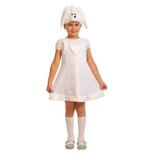 Костюм Заинька, рост 92-122, КарнавалоффКарнавальные костюмы для девочек<br>Характеристики товара:<br><br>• цвет: белый<br>• комплектация: шапочка, платье<br>• материал: текстиль, плюш<br>• для праздников и постановок<br>• упаковка: пакет<br>• возраст: от 3 лет<br>• страна бренда: Российская Федерация<br>• страна изготовитель: Российская Федерация<br><br>Новогодние праздники - отличная возможность перевоплотиться в кого угодно, надев маскарадный костюм. Этот набор позволит ребенку мгновенно превратиться в симпатичную заиньку!<br>Он состоит из двух предметов, которые подойдут дошкольникам и младшим школьникам - костюм рассчитан на рост от 100 см до 125 см. Изделия удобно сидят и позволяют ребенку наслаждаться праздником или принимать участие в постановке. Модель хорошо проработана, сшита из качественных и проверенных материалов, которые безопасны для детей.<br><br>Костюм Заинька, рост 100-125, от бренда Карнавалофф можно купить в нашем интернет-магазине.<br><br>Ширина мм: 265<br>Глубина мм: 280<br>Высота мм: 70<br>Вес г: 233<br>Возраст от месяцев: 60<br>Возраст до месяцев: 120<br>Пол: Женский<br>Возраст: Детский<br>SKU: 5177202