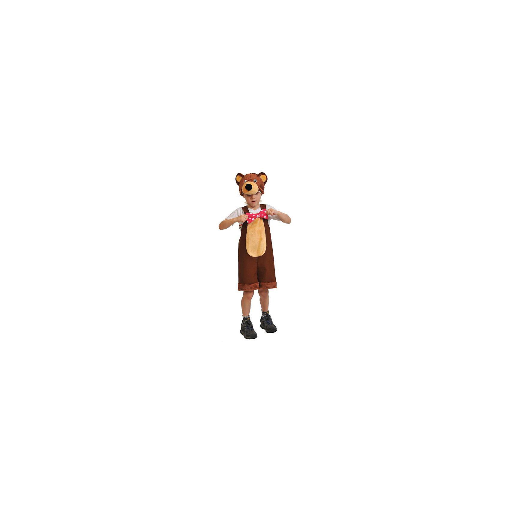 Костюм Медведь цирковой, рост 100-125, КарнавалоффХарактеристики товара:<br><br>• комплектация: шапка, комбинезон<br>• материал: текстиль, плюш<br>• для праздников и постановок<br>• упаковка: пакет<br>• возраст: от 4 лет<br>• страна бренда: Российская Федерация<br>• страна изготовитель: Российская Федерация<br><br>Новогодние праздники - отличная возможность перевоплотиться в кого угодно, надев маскарадный костюм. Этот набор позволит ребенку мгновенно превратиться в медведя!<br>Он состоит из двух предметов, которые подойдут дошкольникам и младшим школьникам - костюм рассчитан на рост от 100 см до 125 см. Изделия удобно сидят и позволяют ребенку наслаждаться праздником или принимать участие в постановке. Модель хорошо проработана, сшита из качественных и проверенных материалов, которые безопасны для детей.<br><br>Костюм Медведь цирковой, рост 100-125, от бренда Карнавалофф можно купить в нашем интернет-магазине.<br><br>Ширина мм: 280<br>Глубина мм: 300<br>Высота мм: 80<br>Вес г: 194<br>Возраст от месяцев: 60<br>Возраст до месяцев: 120<br>Пол: Мужской<br>Возраст: Детский<br>SKU: 5177204
