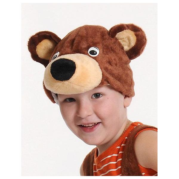 Маска Мишка бурый, КарнавалоффДетские шляпы и колпаки<br>Характеристики товара:<br><br>• цвет: коричневый<br>• комплектация: шапочка<br>• материал: текстиль, плюш<br>• для праздников и постановок<br>• размер маски: 20 x 17 x 16 см<br>• упаковка: пакет<br>• возраст: от 3 лет<br>• страна бренда: Российская Федерация<br>• страна изготовитель: Российская Федерация<br><br>Новогодние праздники - отличная возможность перевоплотиться в кого угодно, надев маскарадный костюм. Эта маска позволит ребенку мгновенно превратиться в медведя!<br>Она сделана в виде шапочки, которая подойдет дошкольникам и младшим школьникам - изделие рассчитано на возраст от 3 лет. Такие маски удобно сидят и позволяют ребенку наслаждаться праздником или принимать участие в постановке. Модель хорошо проработана, сшита из качественных и проверенных материалов, которые безопасны для детей.<br><br>Маску Мишка бурый от бренда Карнавалофф можно купить в нашем интернет-магазине.<br><br>Ширина мм: 200<br>Глубина мм: 260<br>Высота мм: 30<br>Вес г: 68<br>Возраст от месяцев: 36<br>Возраст до месяцев: 96<br>Пол: Мужской<br>Возраст: Детский<br>SKU: 5177210