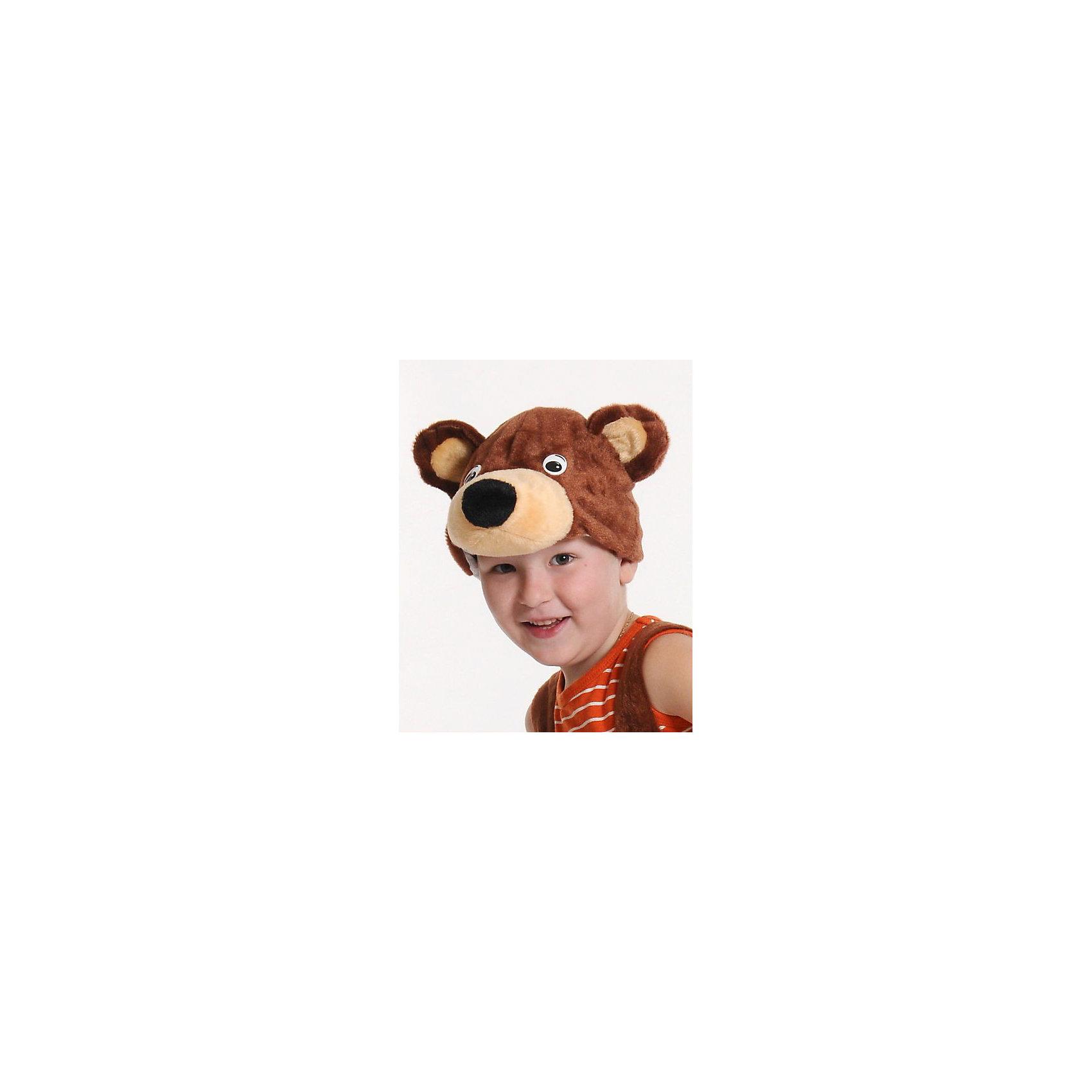 Маска Мишка бурый, КарнавалоффКарнавальные костюмы и аксессуары<br>Характеристики товара:<br><br>• цвет: коричневый<br>• комплектация: шапочка<br>• материал: текстиль, плюш<br>• для праздников и постановок<br>• размер маски: 20 x 17 x 16 см<br>• упаковка: пакет<br>• возраст: от 3 лет<br>• страна бренда: Российская Федерация<br>• страна изготовитель: Российская Федерация<br><br>Новогодние праздники - отличная возможность перевоплотиться в кого угодно, надев маскарадный костюм. Эта маска позволит ребенку мгновенно превратиться в медведя!<br>Она сделана в виде шапочки, которая подойдет дошкольникам и младшим школьникам - изделие рассчитано на возраст от 3 лет. Такие маски удобно сидят и позволяют ребенку наслаждаться праздником или принимать участие в постановке. Модель хорошо проработана, сшита из качественных и проверенных материалов, которые безопасны для детей.<br><br>Маску Мишка бурый от бренда Карнавалофф можно купить в нашем интернет-магазине.<br><br>Ширина мм: 200<br>Глубина мм: 260<br>Высота мм: 30<br>Вес г: 68<br>Возраст от месяцев: 36<br>Возраст до месяцев: 96<br>Пол: Мужской<br>Возраст: Детский<br>SKU: 5177210