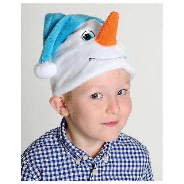 Маска Снеговичок, КарнавалоффДетские шляпы и колпаки<br>Характеристики товара:<br><br>• цвет: белый/голубой<br>• комплектация: шапочка<br>• материал: текстиль, плюш<br>• для праздников и постановок<br>• размер маски: 15х5х20 см<br>• упаковка: пакет<br>• возраст: от 3 лет<br>• страна бренда: Российская Федерация<br>• страна изготовитель: Российская Федерация<br><br>Новогодние праздники - отличная возможность перевоплотиться в кого угодно, надев маскарадный костюм. Эта маска позволит ребенку мгновенно превратиться в снеговика!<br>Она сделана в виде шапочки, которая подойдет дошкольникам и младшим школьникам - изделие рассчитано на возраст от 3 лет. Такие маски удобно сидят и позволяют ребенку наслаждаться праздником или принимать участие в постановке. Модель хорошо проработана, сшита из качественных и проверенных материалов, которые безопасны для детей.<br><br>Маску Снеговичок от бренда Карнавалофф можно купить в нашем интернет-магазине.<br>Ширина мм: 200; Глубина мм: 270; Высота мм: 20; Вес г: 75; Возраст от месяцев: 36; Возраст до месяцев: 96; Пол: Унисекс; Возраст: Детский; SKU: 5177211;