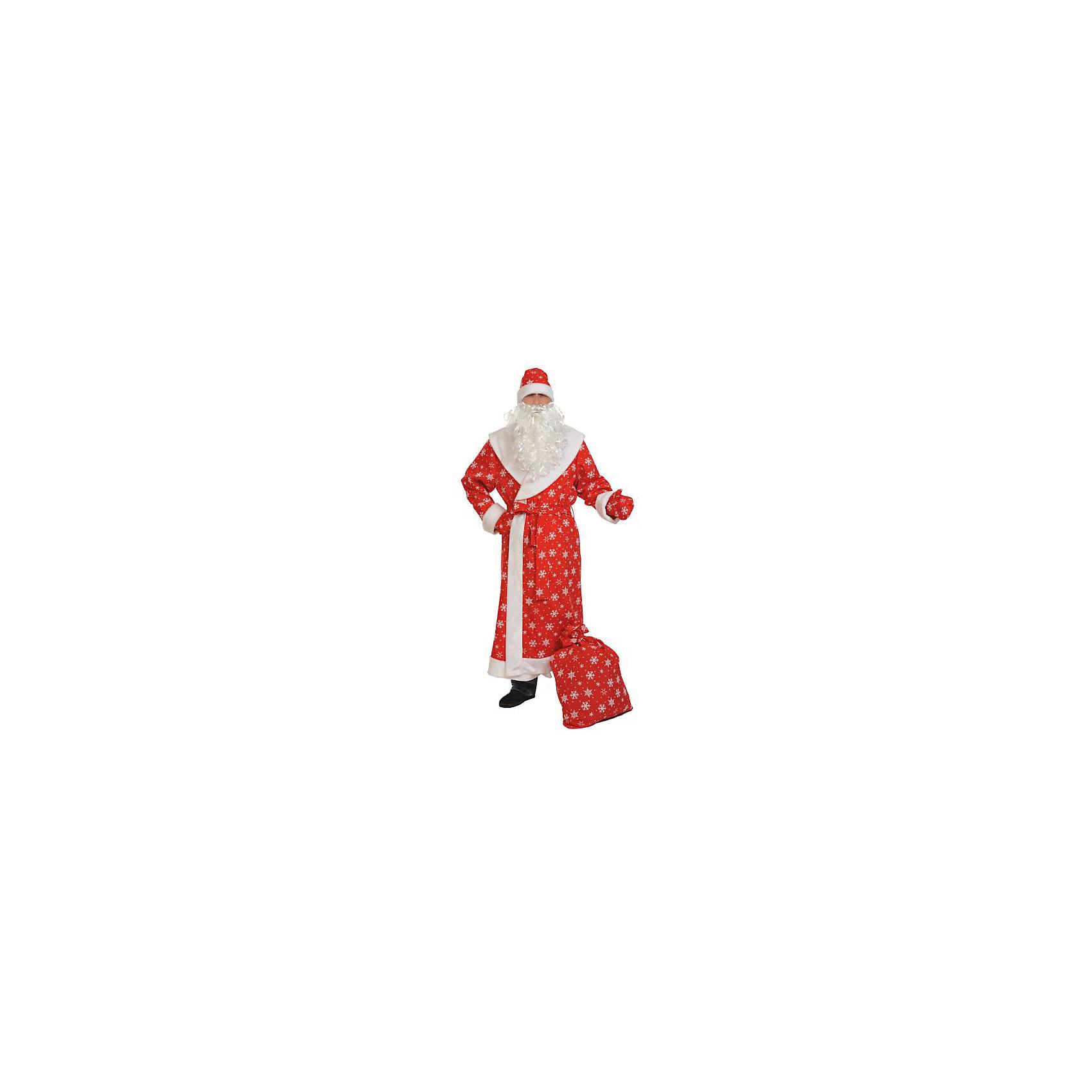 Костюм Дед мороз, размер XL 56-58/188, Карнавалофф от myToys
