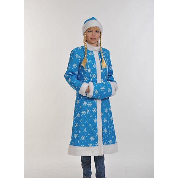 Костюм Снегурочка МИДИ, размер M 46-48/170, КарнавалоффКарнавальные костюмы для девочек<br>Характеристики товара:<br><br>• цвет: голубой<br>• комплектация: шуба, шапка с косичками, муфта<br>• материал: текстиль, плюш<br>• для праздников и постановок<br>• упаковка: пакет<br>• размер: М 46-48/170<br>• страна бренда: Российская Федерация<br>• страна изготовитель: Российская Федерация<br><br>Новогодние праздники в России невозможны без Снегурочки. Легко перевоплотиться в неё можно, надев маскарадный костюм. Этот набор состоит из привычных предметов, в него входят шуба, шапка с косичками, муфта.<br>Костюм - среднего размера, поэтому подойдёт многим. Изделия удобно сидят и позволяют активно принимать участие в постановке или празднике. Модель хорошо проработана, сшита из качественных и проверенных материалов, которые безопасны для детей.<br><br>Костюм Снегурочка МИДИ, размер M 46-48/170,, от бренда Карнавалофф можно купить в нашем интернет-магазине.<br><br>Ширина мм: 260<br>Глубина мм: 440<br>Высота мм: 70<br>Вес г: 720<br>Возраст от месяцев: 60<br>Возраст до месяцев: 120<br>Пол: Женский<br>Возраст: Детский<br>SKU: 5177219