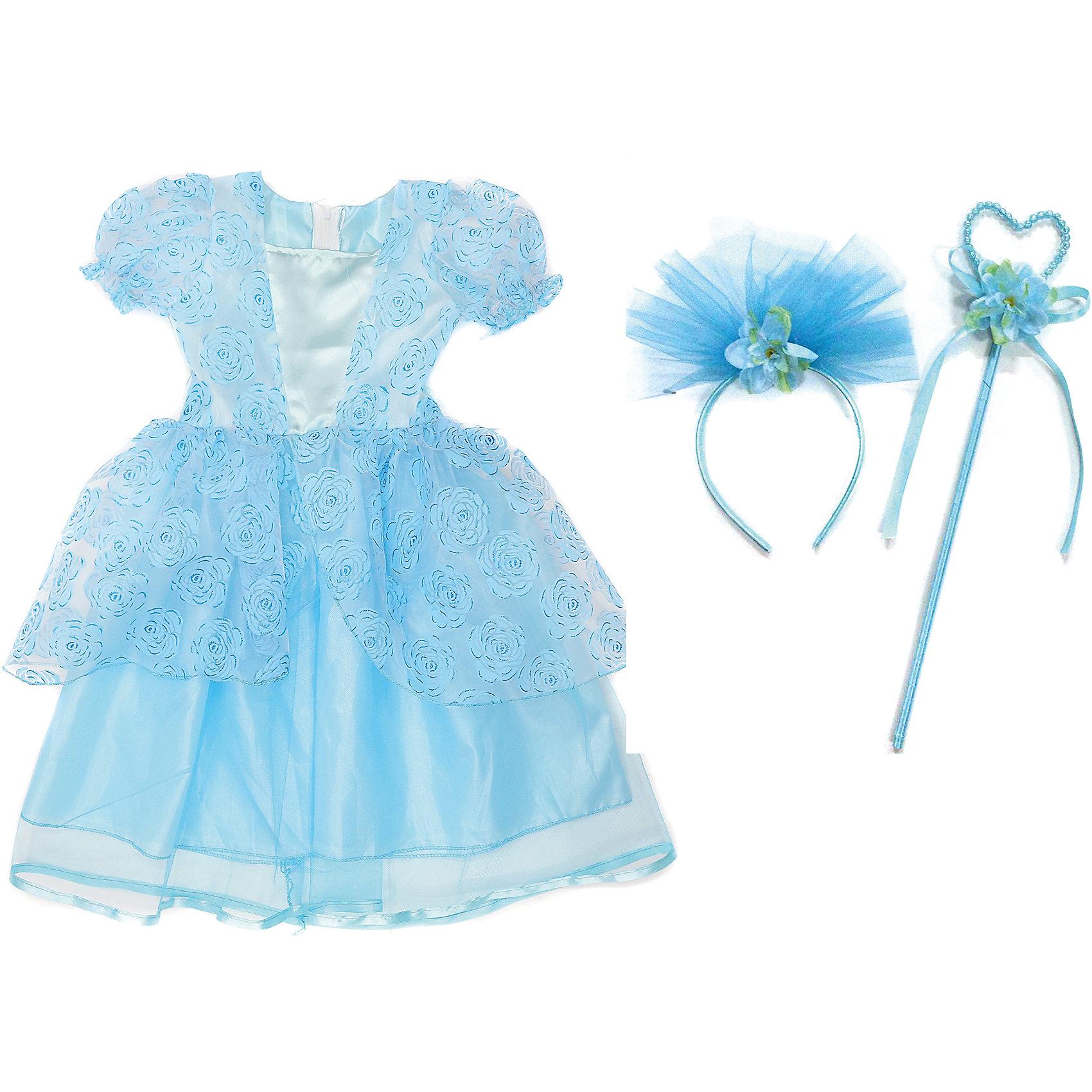 Костюм Зимняя принцесса, 65 см, Новогодняя сказкаХарактеристики товара:<br><br>• цвет: голубой<br>• комплектация: платье, ободок, палочка<br>• материал: текстиль, пластик<br>• для праздников и постановок<br>• упаковка: пакет<br>• длина платья: 65 см<br>• возраст: от 3 лет<br>• страна бренда: Российская Федерация<br>• страна изготовитель: Российская Федерация<br><br>Новогодние праздники - отличная возможность перевоплотиться в кого угодно, надев маскарадный костюм. Этот набор позволит ребенку мгновенно превратиться в принцессу!<br>Он состоит из нескольких предметов, которые подойдут дошкольникам. Изделия удобно сидят и позволяют ребенку наслаждаться праздником или принимать участие в постановке. Модель хорошо проработана, сшита из качественных и проверенных материалов, которые безопасны для детей.<br><br>Костюм Зимняя принцесса, 65 см, от бренда Новогодняя сказка можно купить в нашем интернет-магазине.<br><br>Ширина мм: 455<br>Глубина мм: 690<br>Высота мм: 30<br>Вес г: 167<br>Возраст от месяцев: 60<br>Возраст до месяцев: 120<br>Пол: Женский<br>Возраст: Детский<br>SKU: 5177227