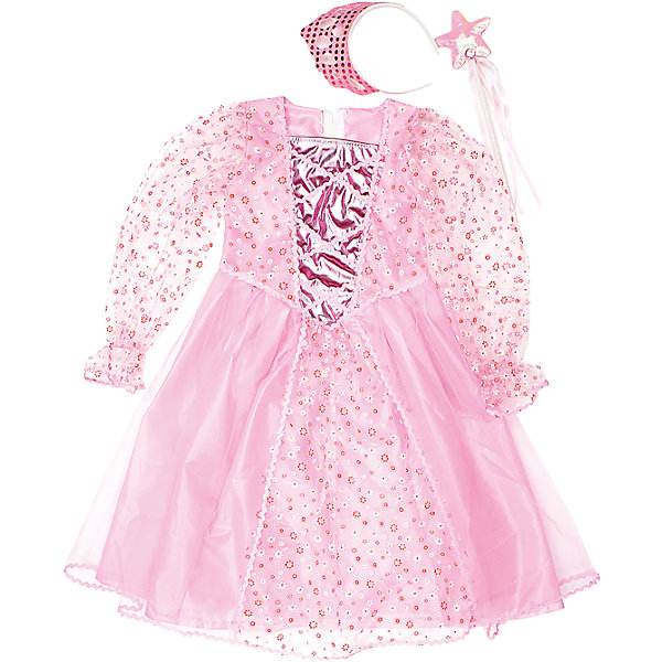 Костюм Принцесса, 75 см, Новогодняя сказкаДля девочек<br>Характеристики товара:<br><br>• цвет: розовый<br>• комплектация: платье, ободок, палочка<br>• материал: текстиль, пластик<br>• для праздников и постановок<br>• упаковка: пакет<br>• длина платья: 75 см<br>• возраст: от 3 лет<br>• страна бренда: Российская Федерация<br>• страна изготовитель: Российская Федерация<br><br>Новогодние праздники - отличная возможность перевоплотиться в кого угодно, надев маскарадный костюм. Этот набор позволит ребенку мгновенно превратиться в принцессу!<br>Он состоит из нескольких предметов, которые подойдут дошкольникам. Изделия удобно сидят и позволяют ребенку наслаждаться праздником или принимать участие в постановке. Модель хорошо проработана, сшита из качественных и проверенных материалов, которые безопасны для детей.<br><br>Костюм Принцесса, 75 см, от бренда Новогодняя сказка можно купить в нашем интернет-магазине.<br><br>Ширина мм: 470<br>Глубина мм: 710<br>Высота мм: 30<br>Вес г: 175<br>Возраст от месяцев: 60<br>Возраст до месяцев: 120<br>Пол: Женский<br>Возраст: Детский<br>SKU: 5177228