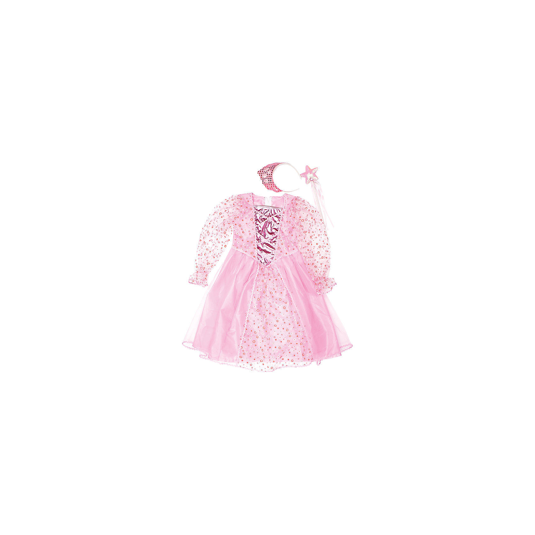 Костюм Принцесса, 75 см, Новогодняя сказкаКарнавальные костюмы и аксессуары<br>Характеристики товара:<br><br>• цвет: розовый<br>• комплектация: платье, ободок, палочка<br>• материал: текстиль, пластик<br>• для праздников и постановок<br>• упаковка: пакет<br>• длина платья: 75 см<br>• возраст: от 3 лет<br>• страна бренда: Российская Федерация<br>• страна изготовитель: Российская Федерация<br><br>Новогодние праздники - отличная возможность перевоплотиться в кого угодно, надев маскарадный костюм. Этот набор позволит ребенку мгновенно превратиться в принцессу!<br>Он состоит из нескольких предметов, которые подойдут дошкольникам. Изделия удобно сидят и позволяют ребенку наслаждаться праздником или принимать участие в постановке. Модель хорошо проработана, сшита из качественных и проверенных материалов, которые безопасны для детей.<br><br>Костюм Принцесса, 75 см, от бренда Новогодняя сказка можно купить в нашем интернет-магазине.<br><br>Ширина мм: 470<br>Глубина мм: 710<br>Высота мм: 30<br>Вес г: 175<br>Возраст от месяцев: 60<br>Возраст до месяцев: 120<br>Пол: Женский<br>Возраст: Детский<br>SKU: 5177228