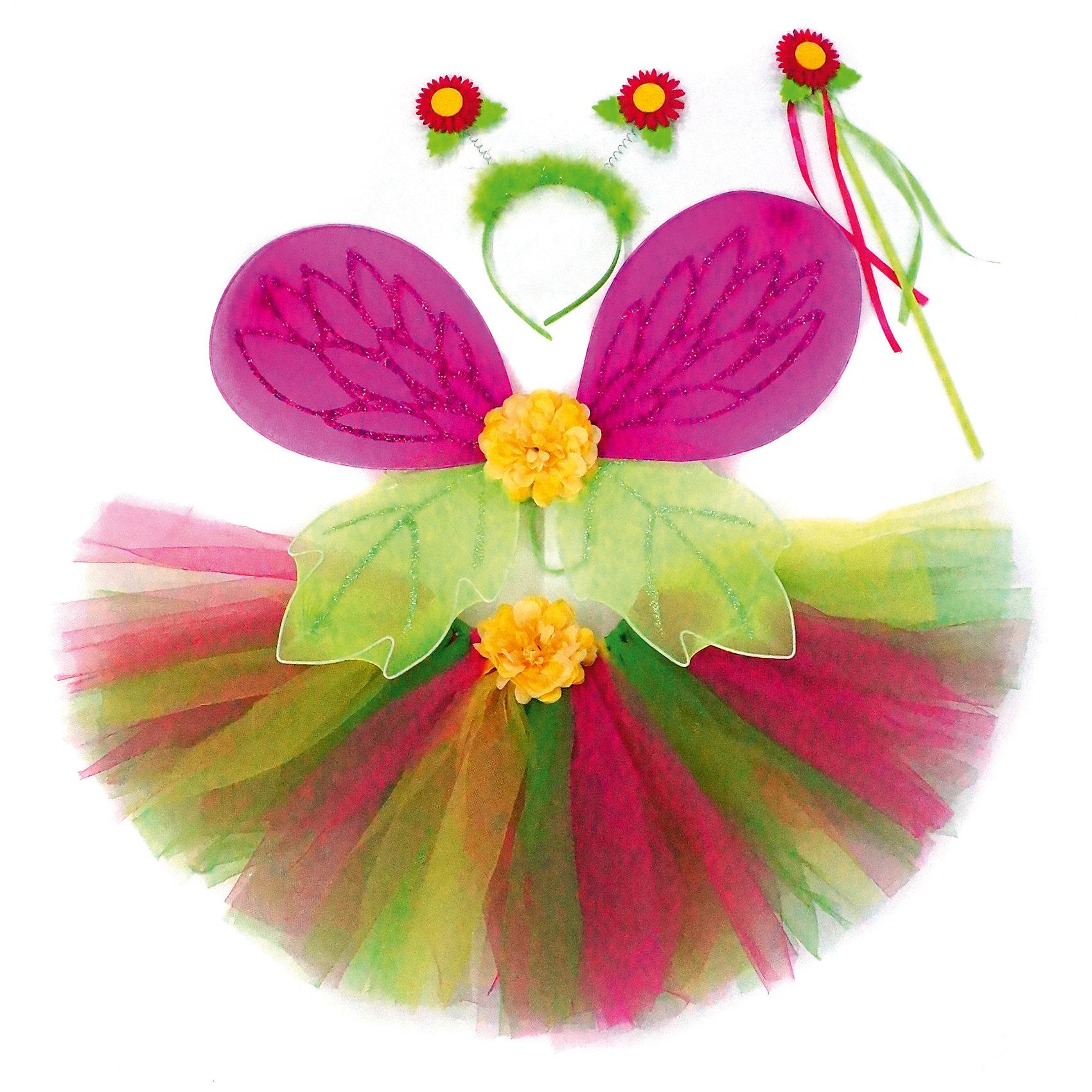 Костюм Страна эльфов, розовый, Новогодняя сказкаКарнавальные костюмы и аксессуары<br>Характеристики товара:<br><br>• цвет: розовый<br>• комплектация: крылья, юбка, ободок, палочка<br>• материал: текстиль, пластик<br>• для праздников и постановок<br>• упаковка: пакет<br>• размер крыльев: 47х35 см<br>• длина юбки: 25 см<br>• возраст: от 3 лет<br>• страна бренда: Российская Федерация<br>• страна изготовитель: Российская Федерация<br><br>Новогодние праздники - отличная возможность перевоплотиться в кого угодно, надев маскарадный костюм. Этот набор позволит ребенку мгновенно превратиться в эльфа!<br>Он состоит из нескольких предметов, которые подойдут дошкольникам. Изделия удобно сидят и позволяют ребенку наслаждаться праздником или принимать участие в постановке. Модель хорошо проработана, сшита из качественных и проверенных материалов, которые безопасны для детей.<br><br>Костюм Страна эльфов, розовый, от бренда Новогодняя сказка можно купить в нашем интернет-магазине.<br><br>Ширина мм: 480<br>Глубина мм: 600<br>Высота мм: 20<br>Вес г: 208<br>Возраст от месяцев: 36<br>Возраст до месяцев: 96<br>Пол: Женский<br>Возраст: Детский<br>SKU: 5177237