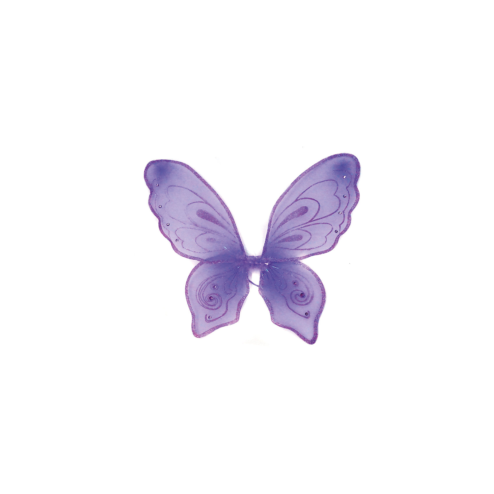 Приставные крылья Бабочки, фиолетовые, 57х49 см, Новогодняя сказка
