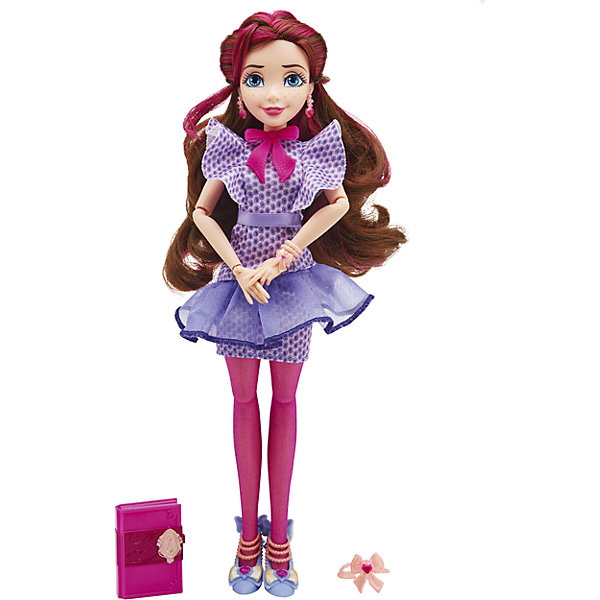 Кукла Джейн, Светлые герои в оригинальных костюмах, НаследникиИгрушки<br>Светлые герои в оригинальных костюмах, Disney (Дисней). <br><br>Характеристики:<br><br>• Материал: пластик, текстиль.<br>• Цвет: разноцветный<br>• Высота: 29 см.<br>• В комплект входит: кукла, одежда, аксессуары.<br><br>Девочки обожают играть в куклы. Это не только весело, но и помогает развить ключевые социальные навыки! Кукла Джейн серии Наследники Дисней несомненно, порадует каждого поклонника фильма «Наследники»! У куклы шикарные длинные, вьющиеся волосы. Она одета в соответствующий мультику наряд. Её конечности подвижны. Наряд дополняют оригинальные аксессуары. У Джейн пышные  локоны, которые ваша девочка сможет расплетать, расчесывать и укладывать в затейливые прически. Эта кукла обязательно порадует ребенка! Он станет отличным подарком и поможет девочке развивать свою фантазию и мелкую моторику. Игрушка сделана из качественных и безопасных для ребенка материалов.<br><br>Куклу Светлые герои в оригинальном костюме,  (Дисней), можно купить в нашем магазине.<br><br>Ширина мм: 63<br>Глубина мм: 207<br>Высота мм: 332<br>Вес г: 273<br>Возраст от месяцев: 72<br>Возраст до месяцев: 144<br>Пол: Женский<br>Возраст: Детский<br>SKU: 5177785